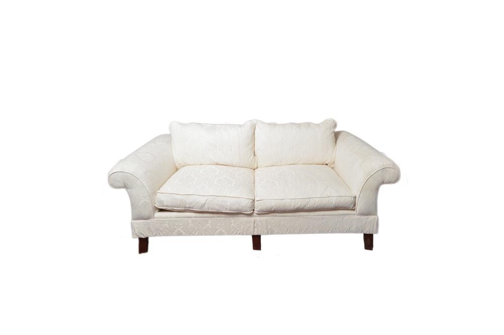 Cream Damask Sofa