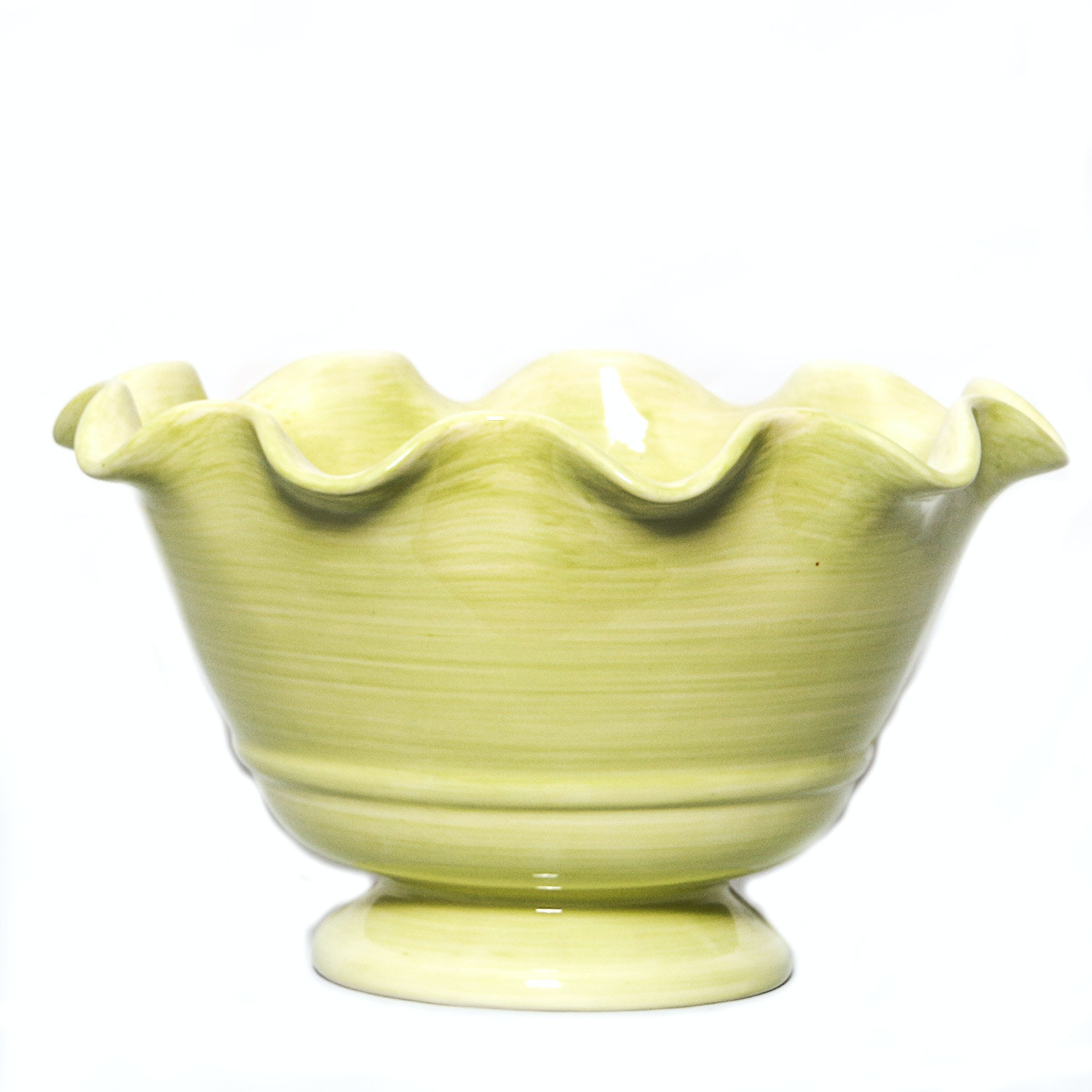 Crate & Barrel Scalloped Serving Bowl