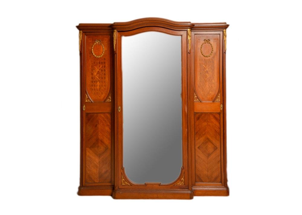 Armoire with Mirrored Door