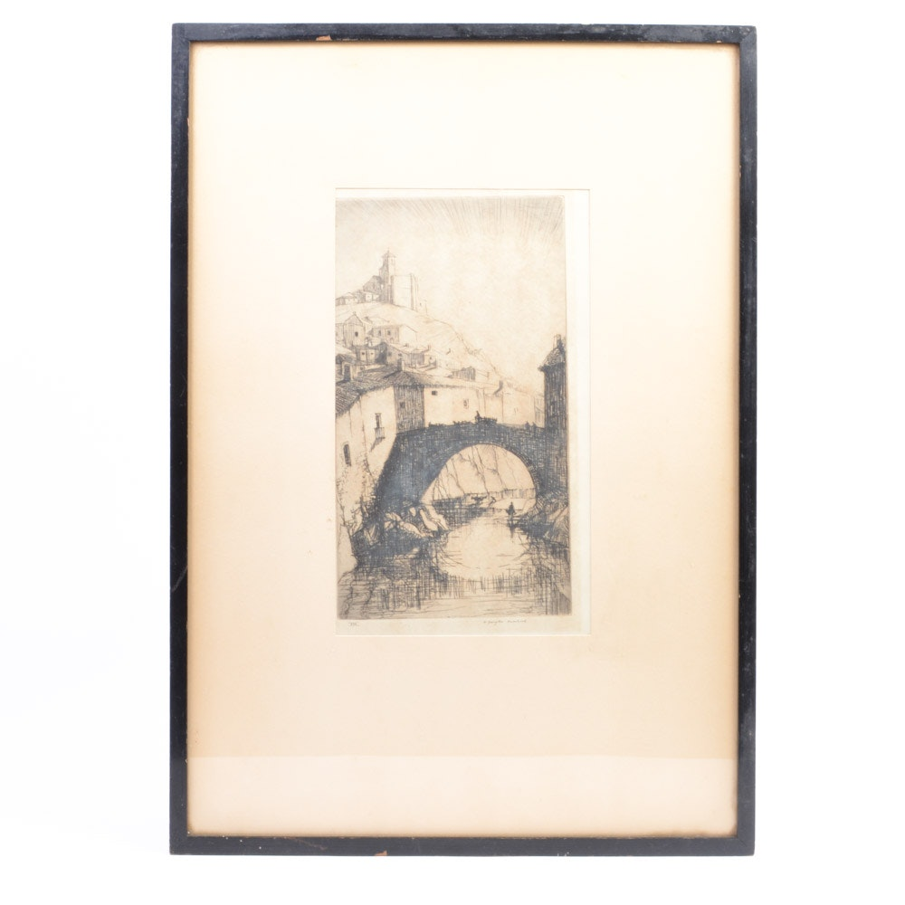 "Original W. Douglas Macleod ""The Sentinel"" Etching"