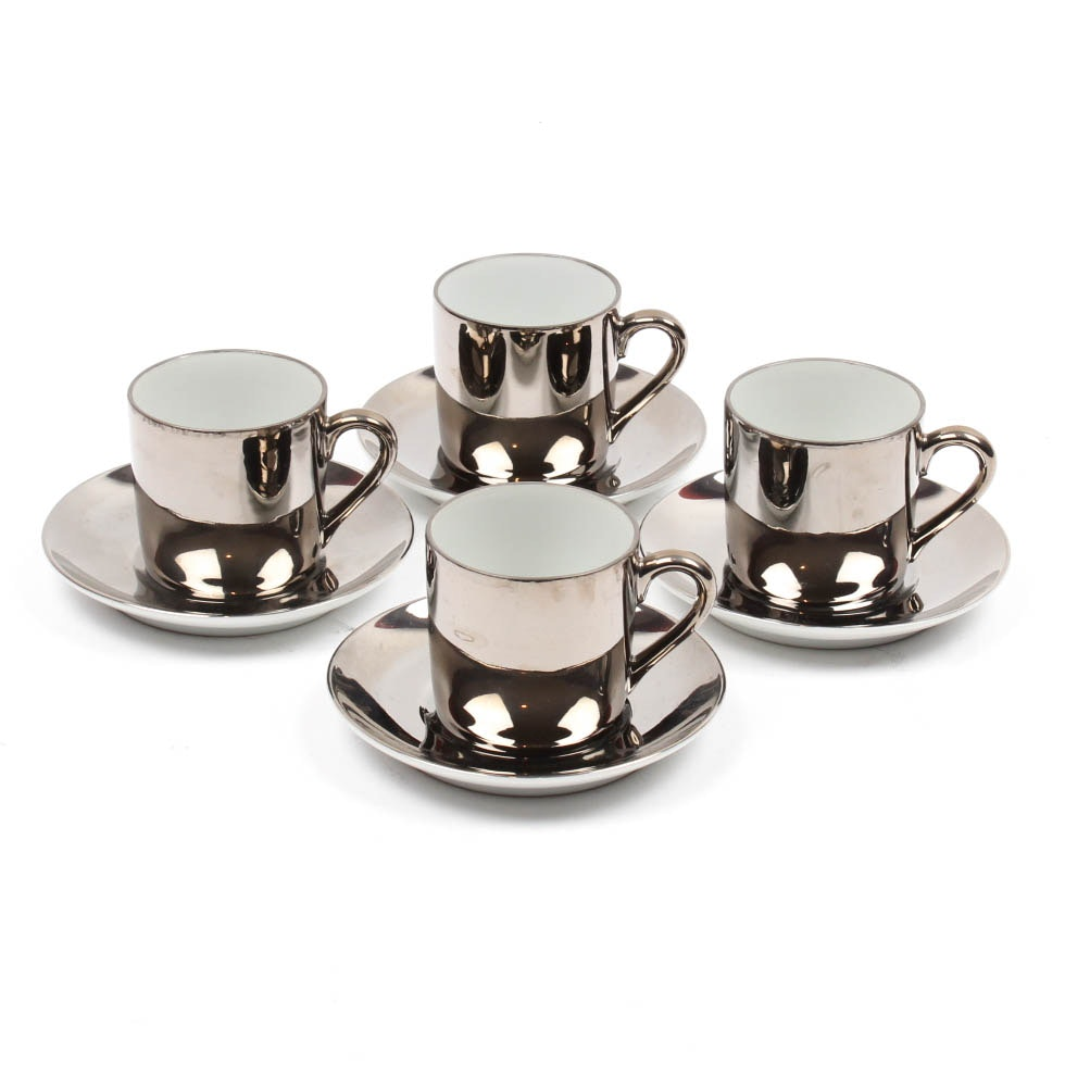 Georg Jensen Porcelain Demitasse Set