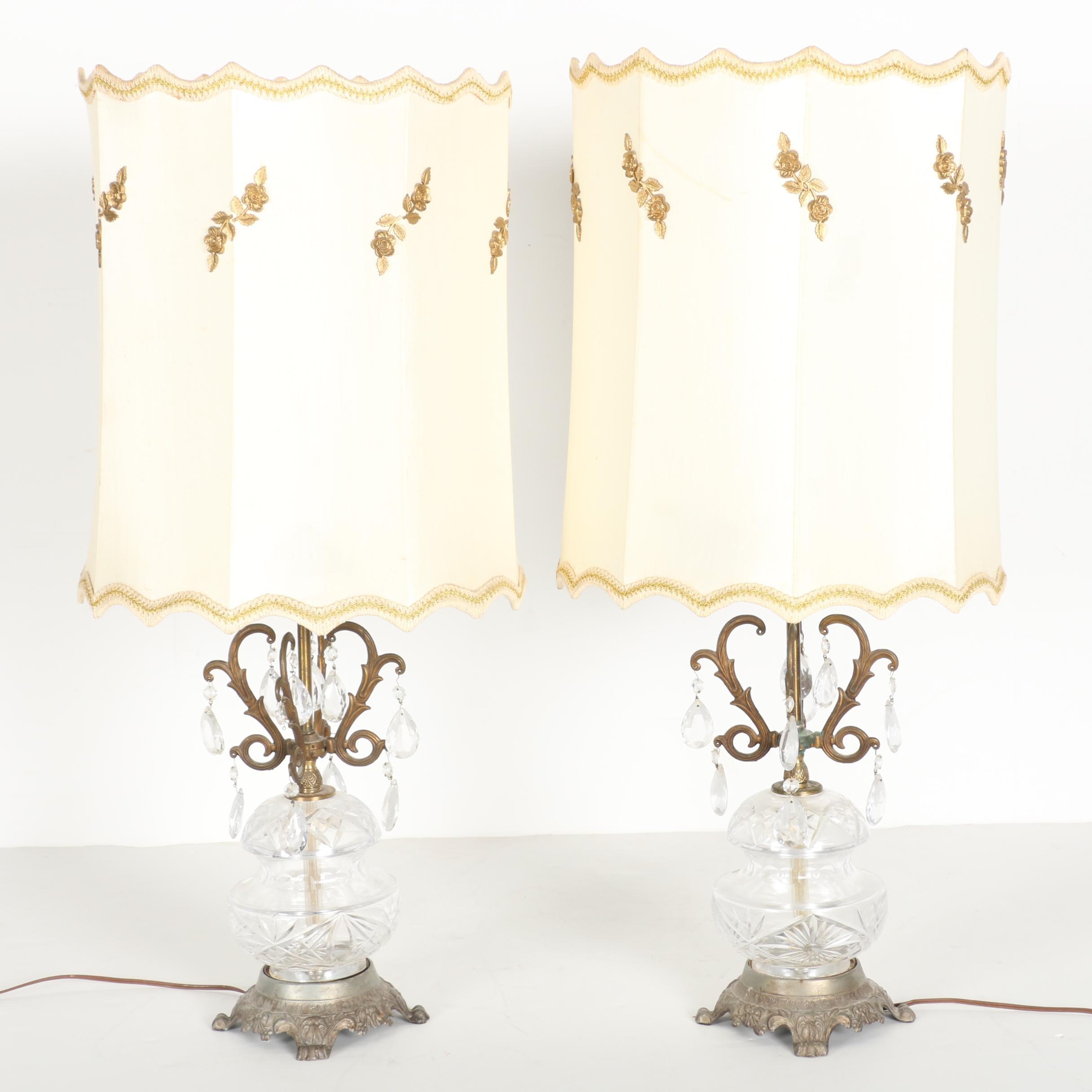 Lead Crystal Lamp Set