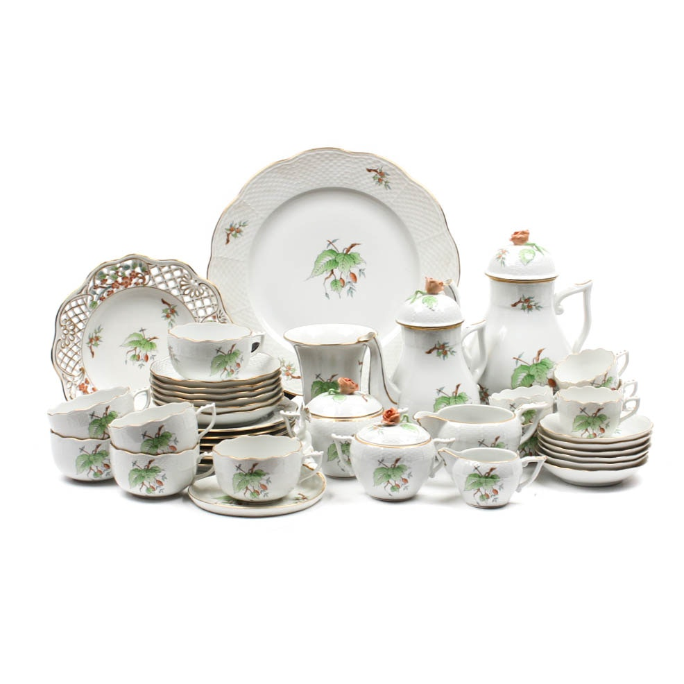 Collection of Hand-Painted Herend Fine China