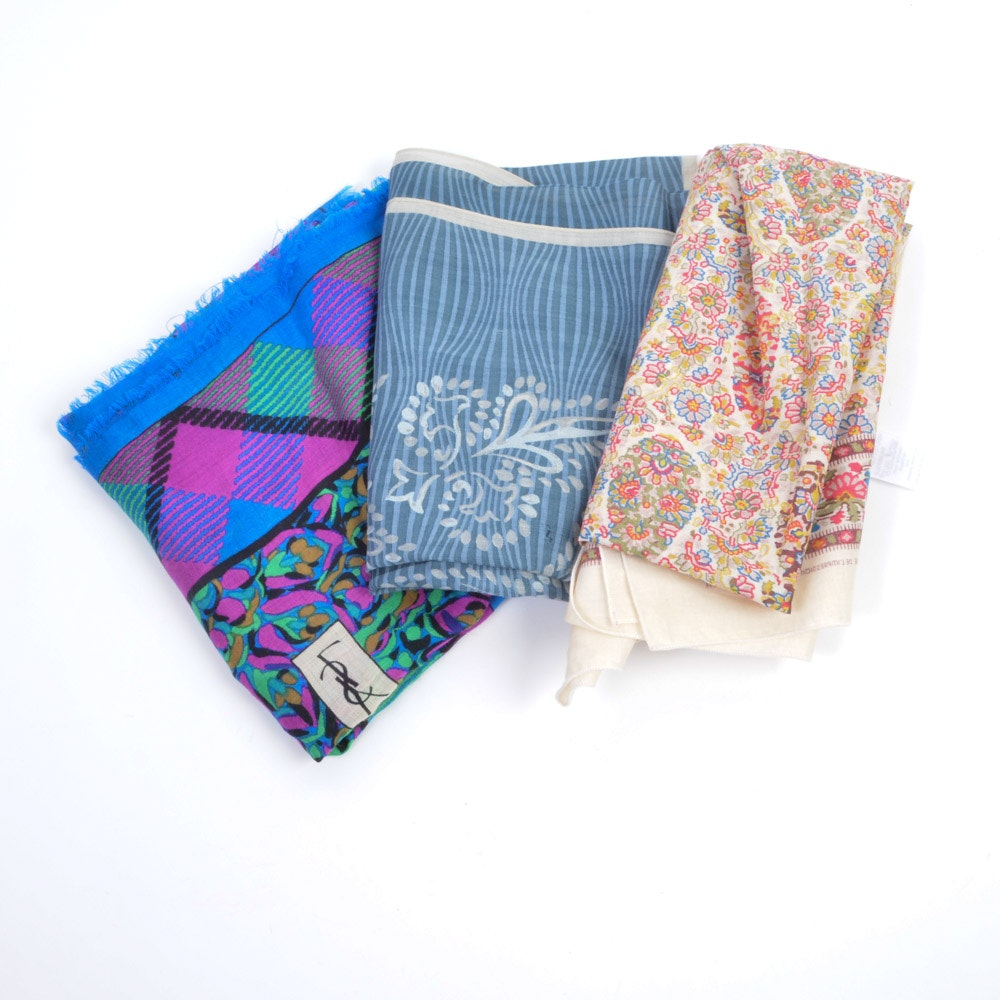 Collection of Scarves including Yves Saint Laurent