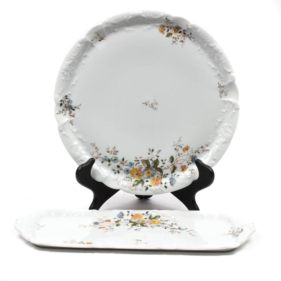 "L & C Limoges ""Charmette"" Serving Pieces"