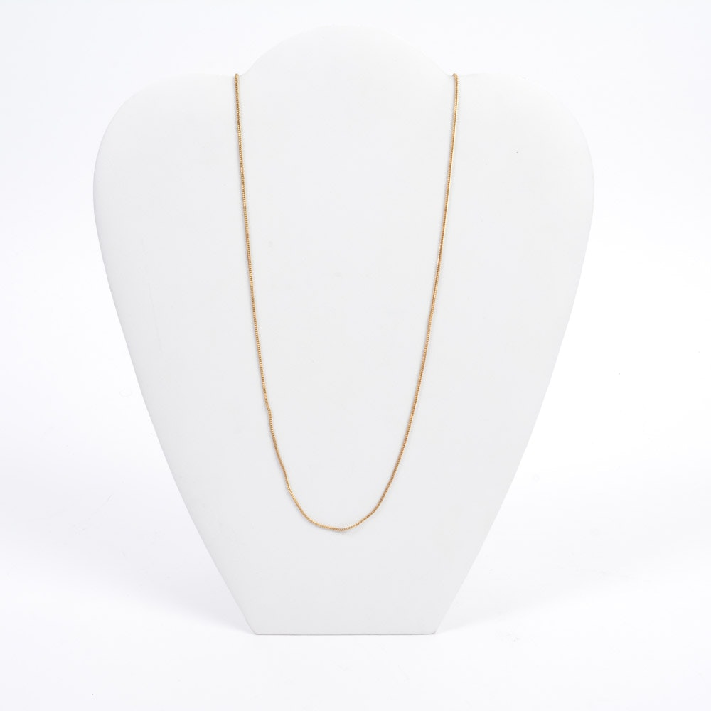 18K Gold Foxtail Chain Necklace