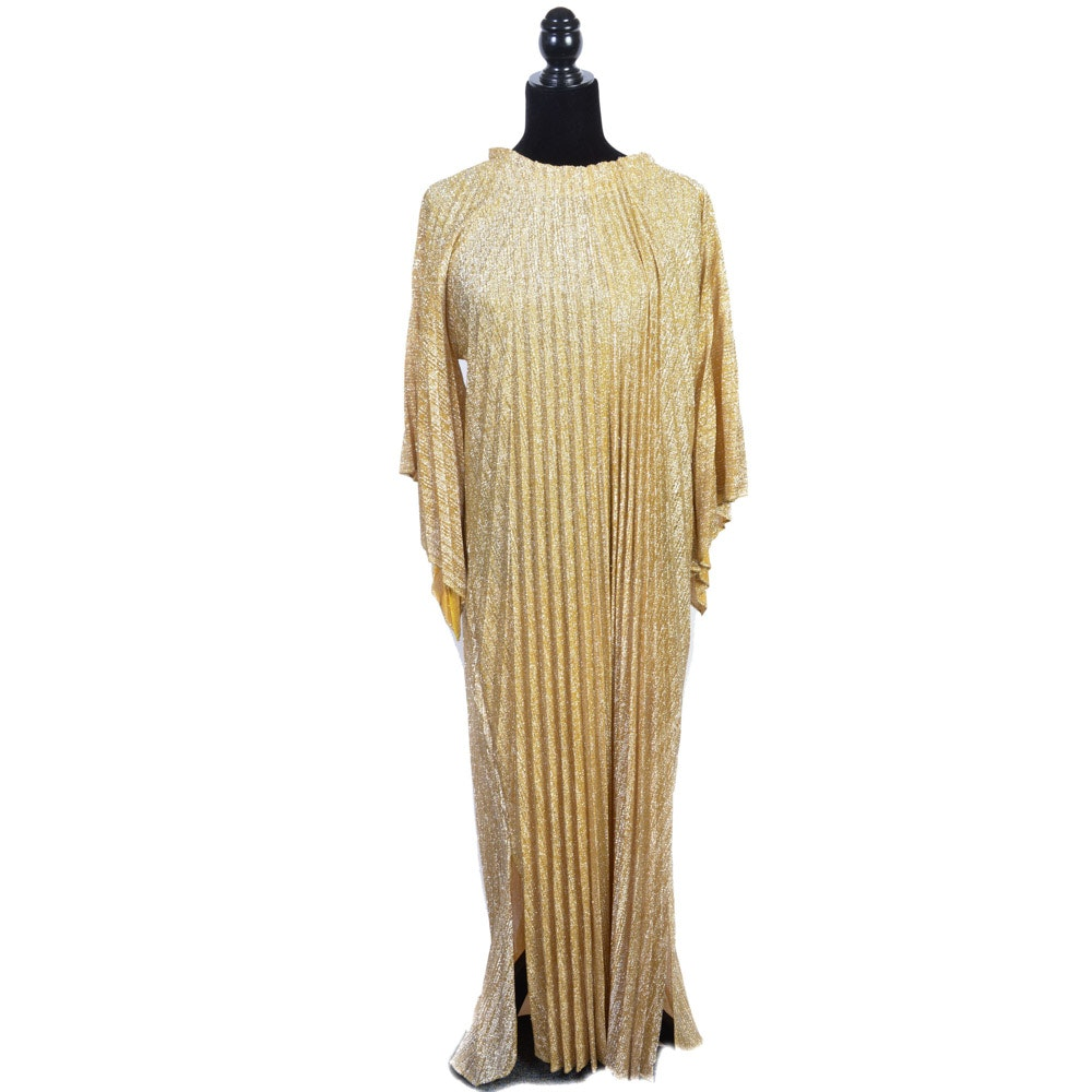 Vintage Gold Caftan Dress