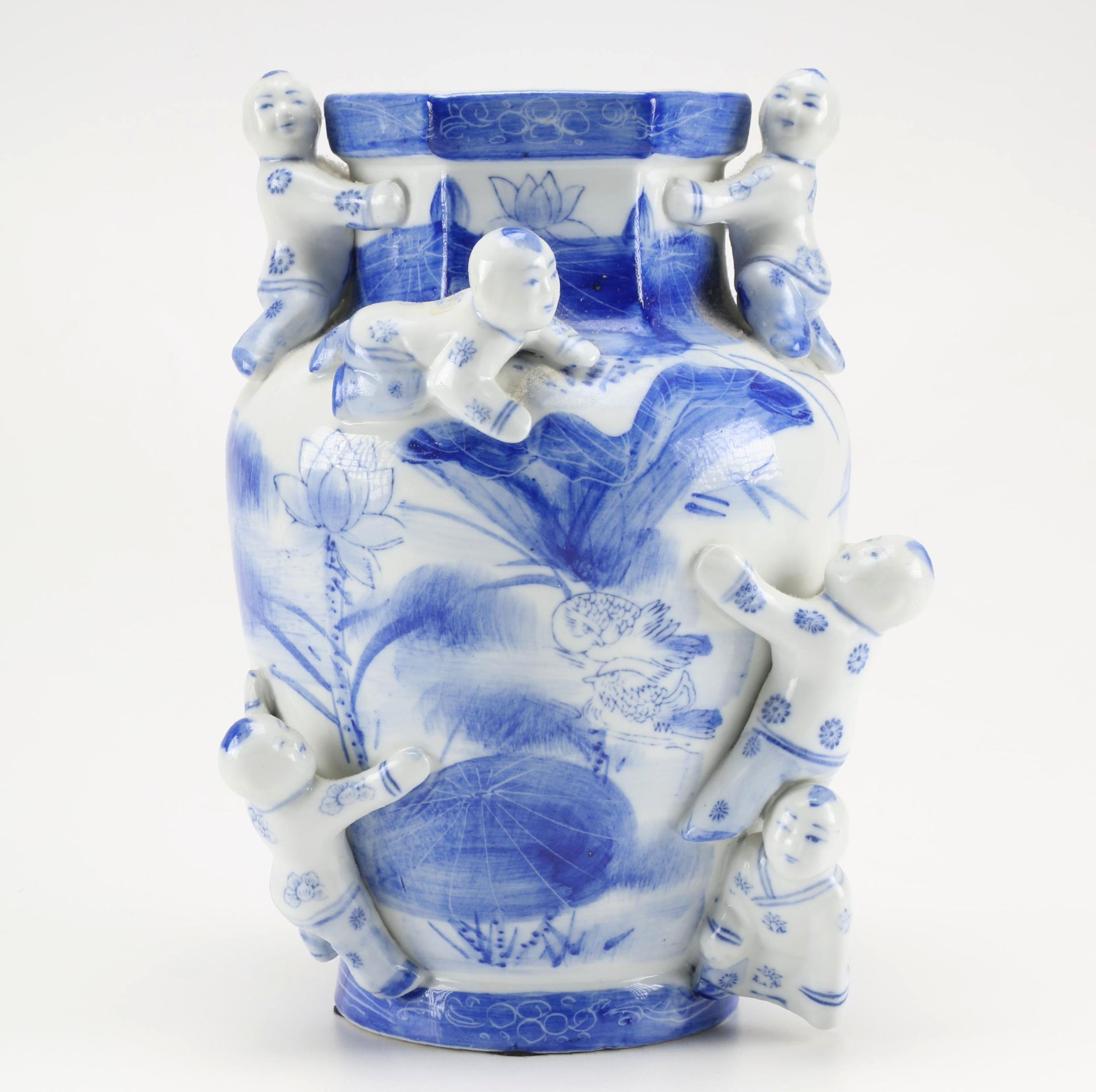 Chinese Porcelain Vase with Babies