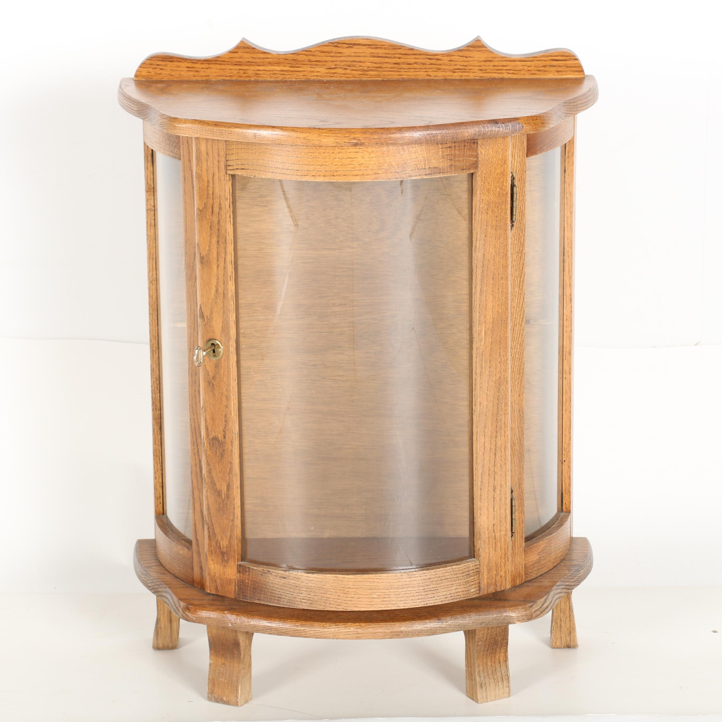 Contemporary Diminutive Bowfront Display Cabinet