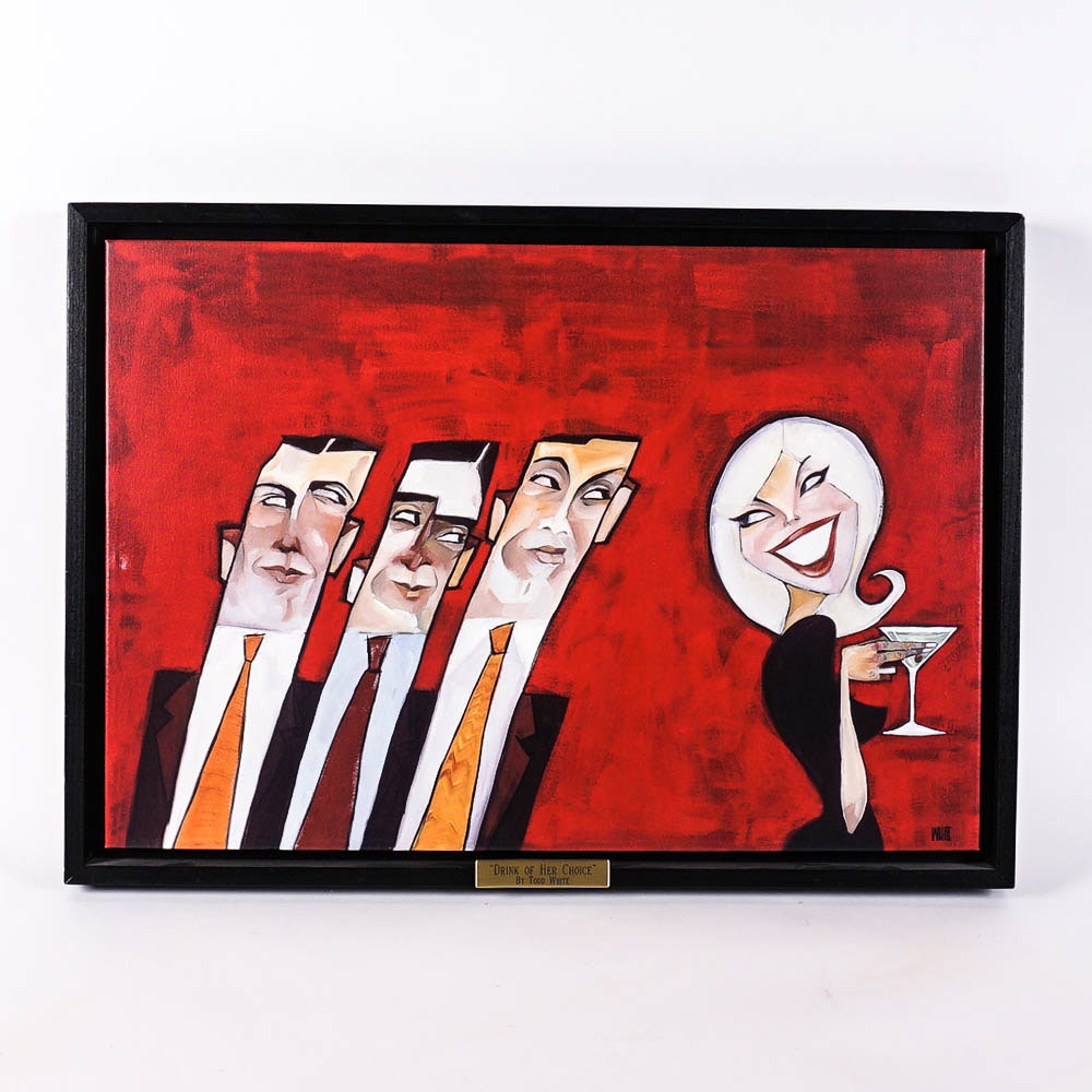 """Giclee on Canvas """"Drink of Her Choice"""" After Todd White"""