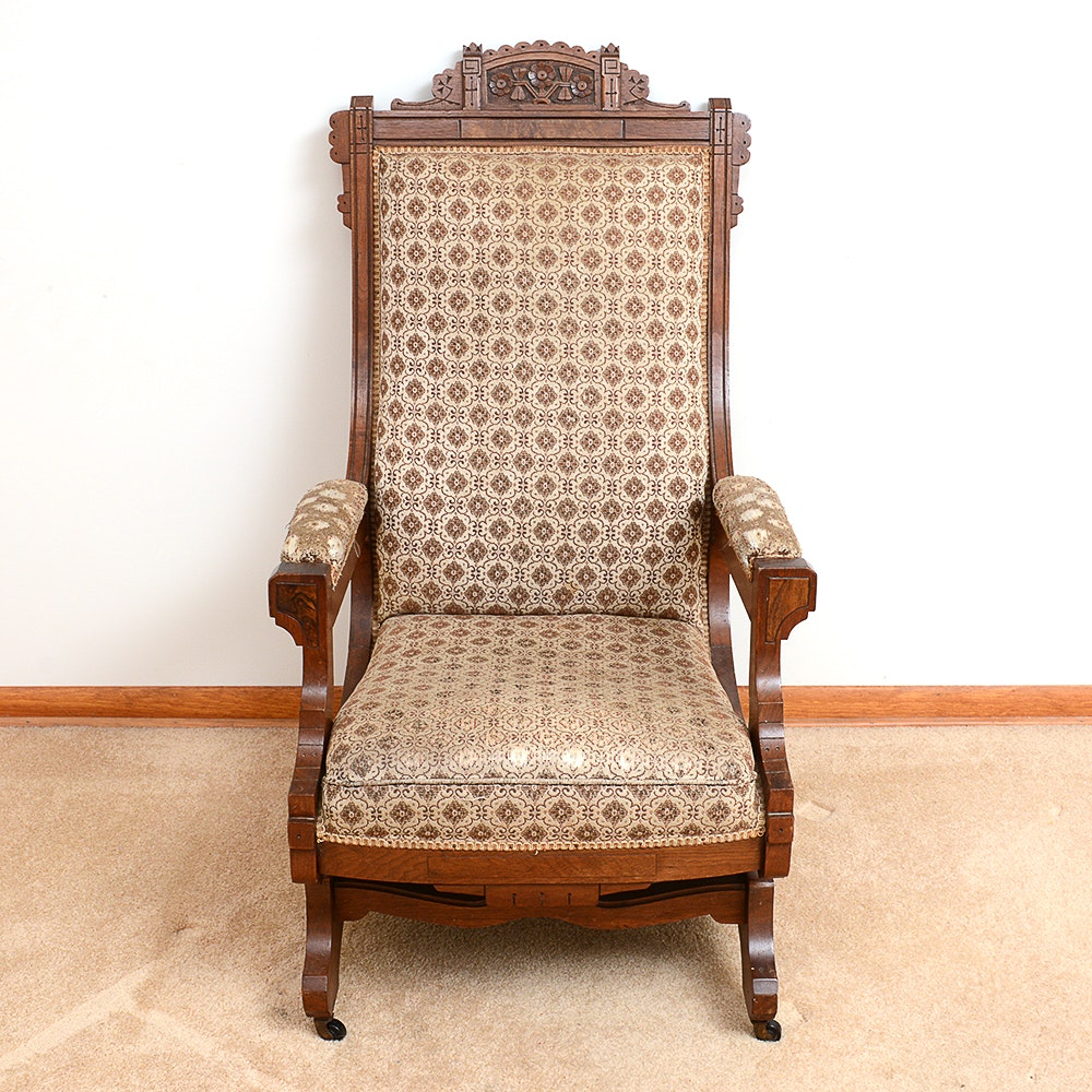 Antique Victorian Eastlake Style Walnut Chair ...