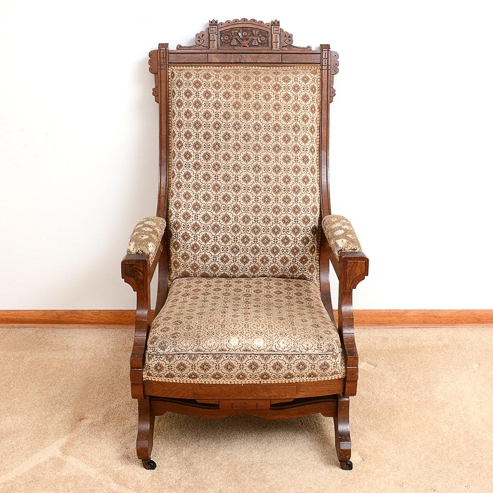 Antique Victorian Eastlake Style Walnut Chair ...