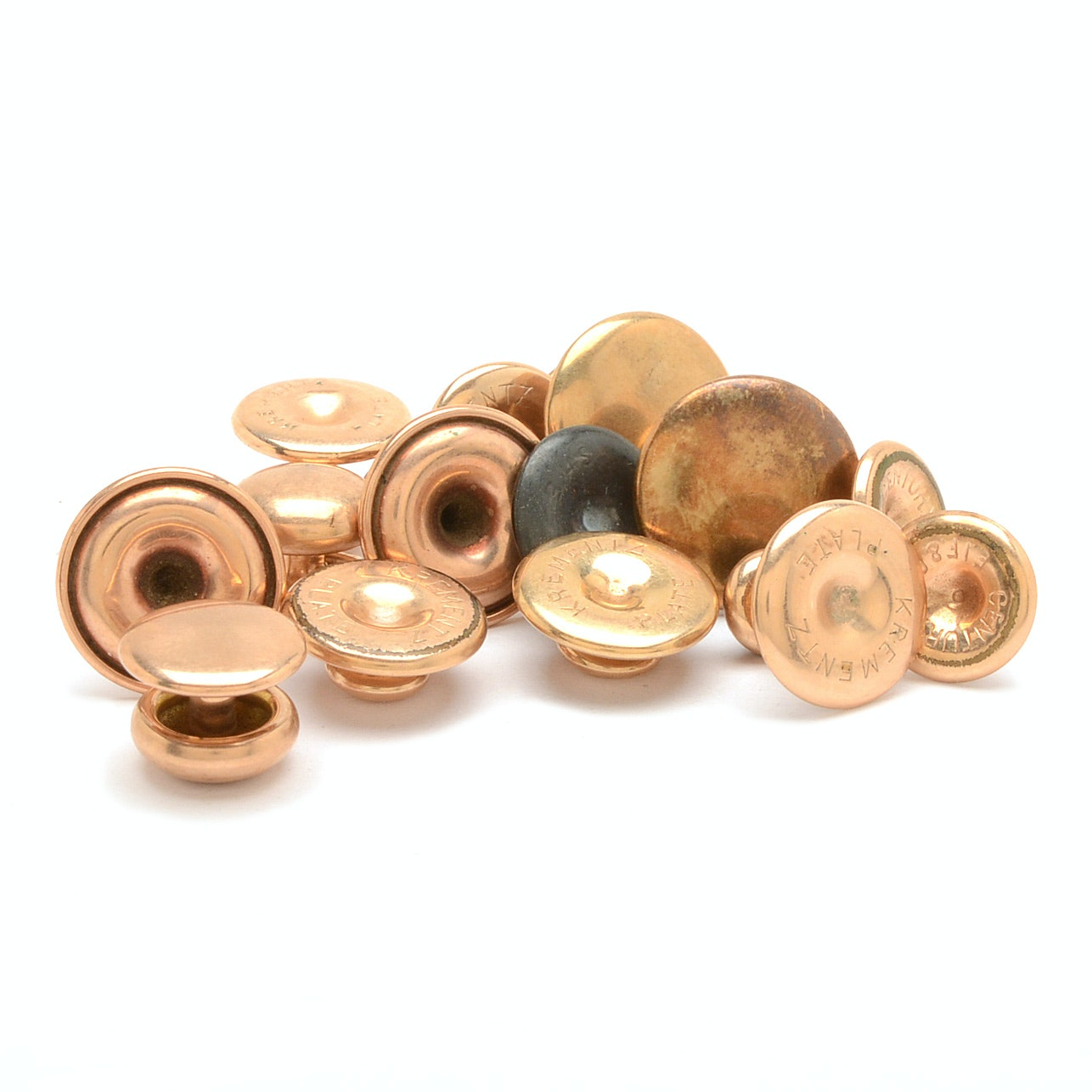 Vintage Gold Tone Collar Buttons