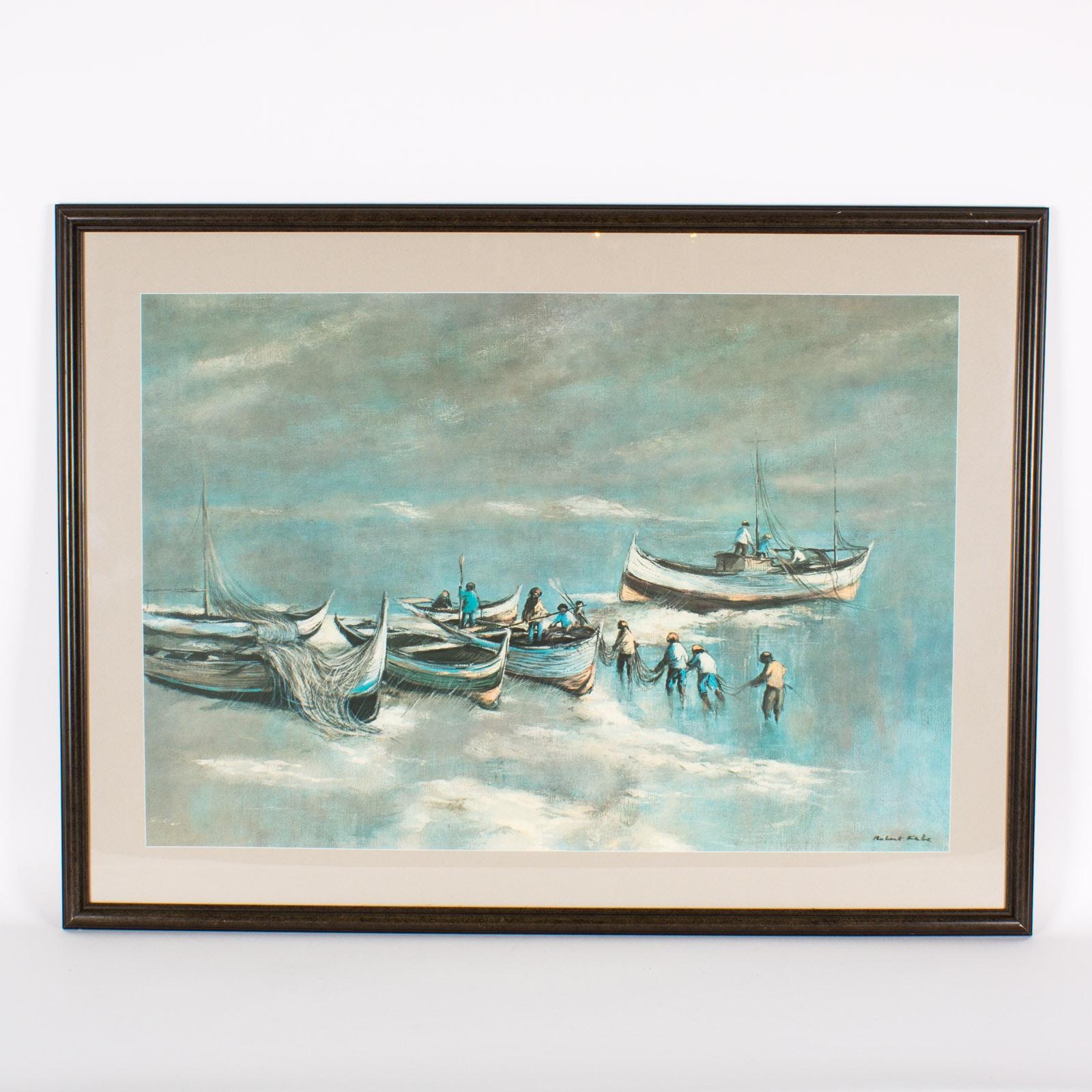 Robert Fabe Original Signed Watercolor Painting