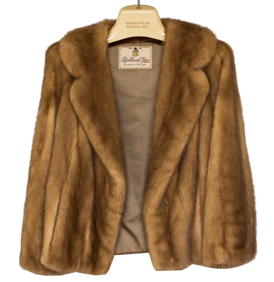 Vintage Mink Fur Coat by Richland Furs : EBTH