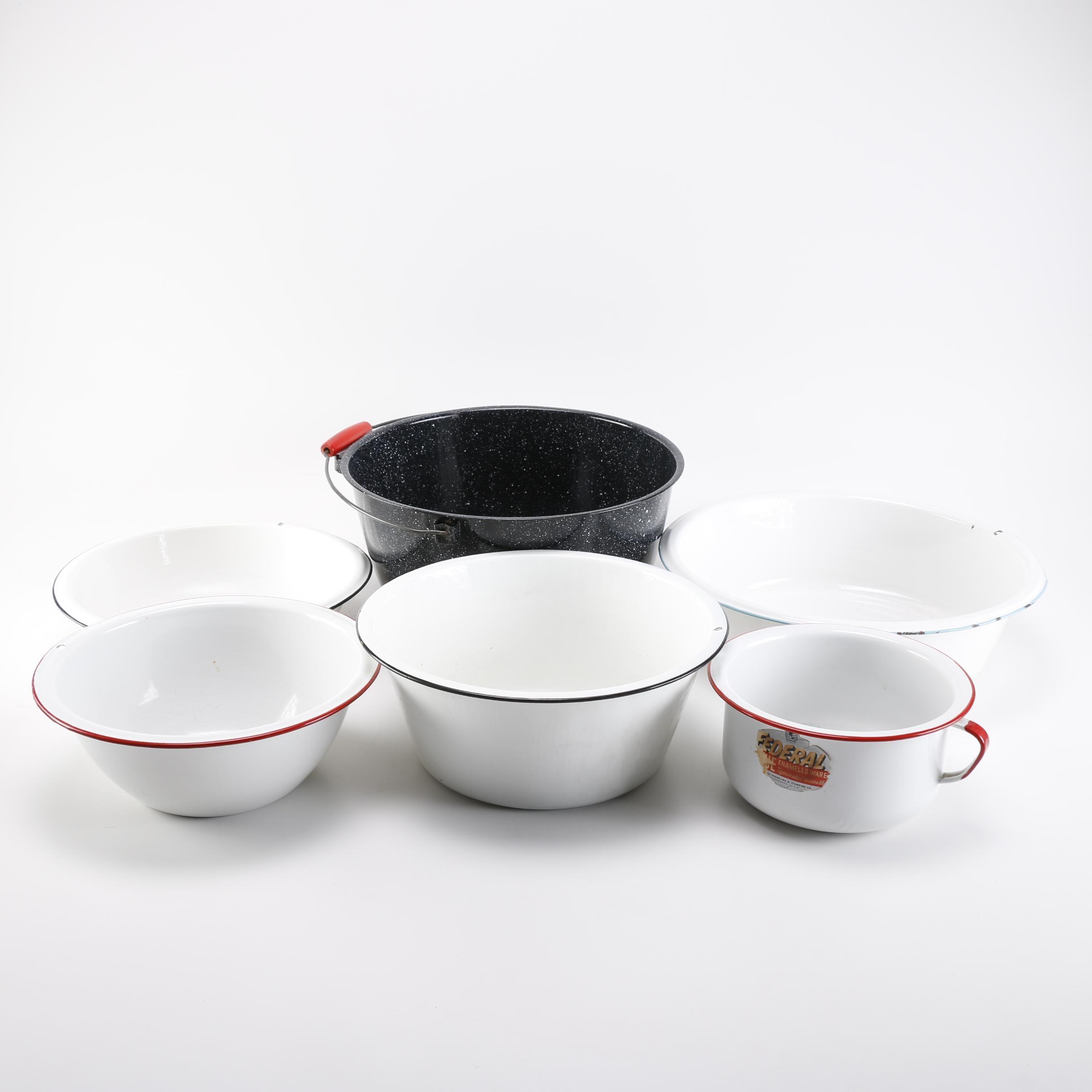 Vintage Enamel Bowls