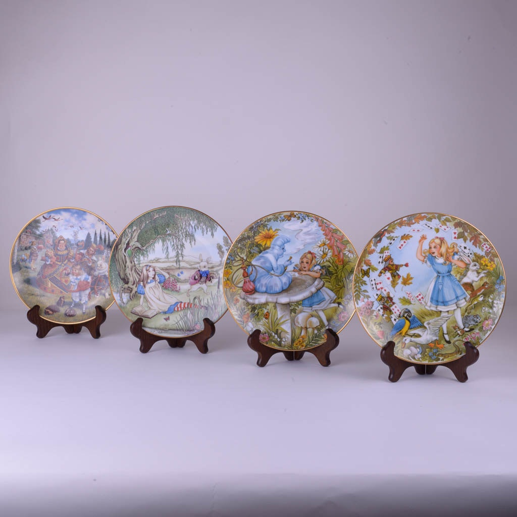 Limited Edition Alice in Wonderland Plates by Limoges and Viletta