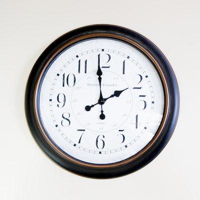 Onyx Mantel Clock By Waterbury Clock Company Ebth