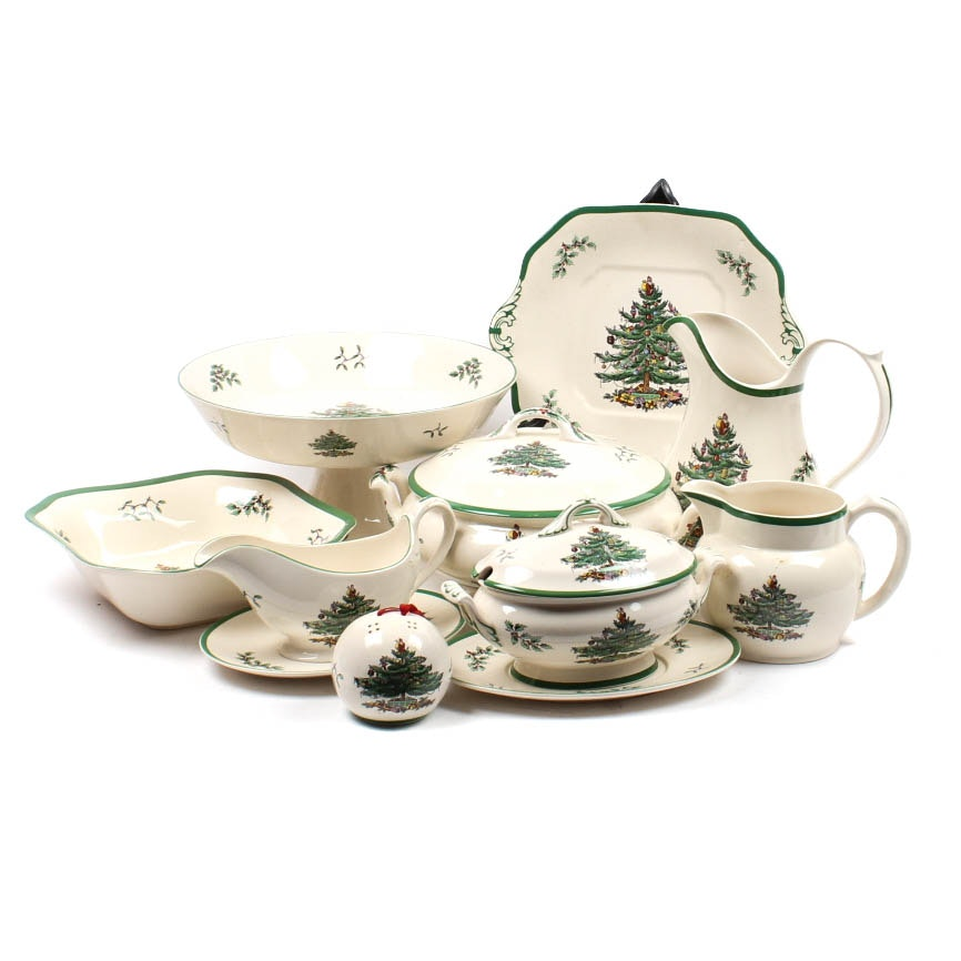 "Spode ""Christams Tree"" China Assortment"