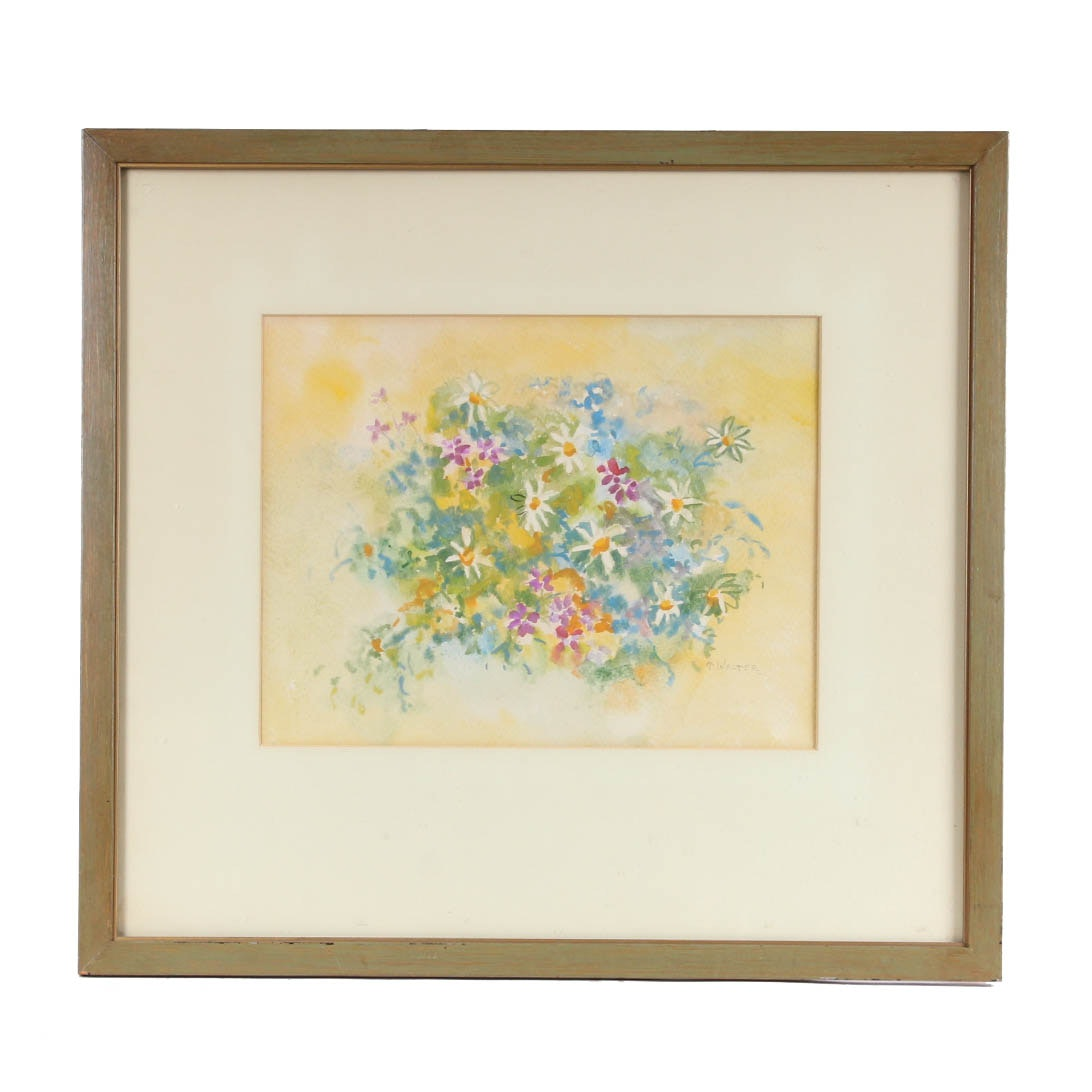 Thelma Walter Floral Bouquet Watercolor