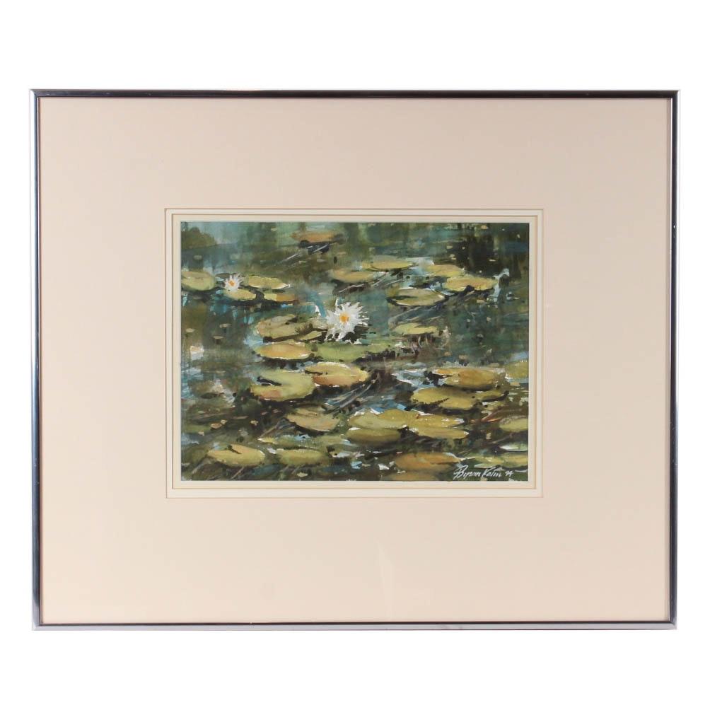 Byron Kohn Water Lilies Watercolor