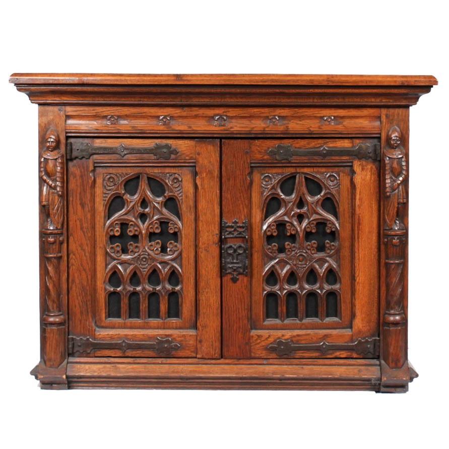 Antique Belgian Oak Cabinet
