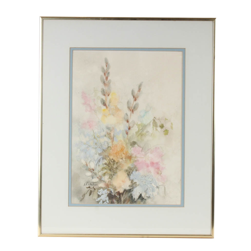 J. Rocheleau Floral Watercolor