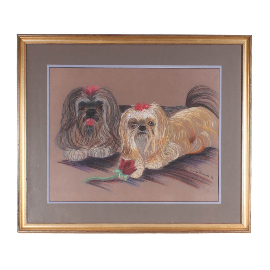 Cherie Russell Pet Portrait of Lhasa Apso