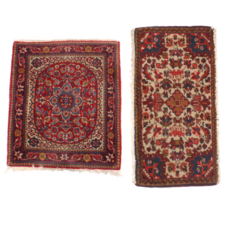 Pair of Hand Knotted Persian Accent Rugs