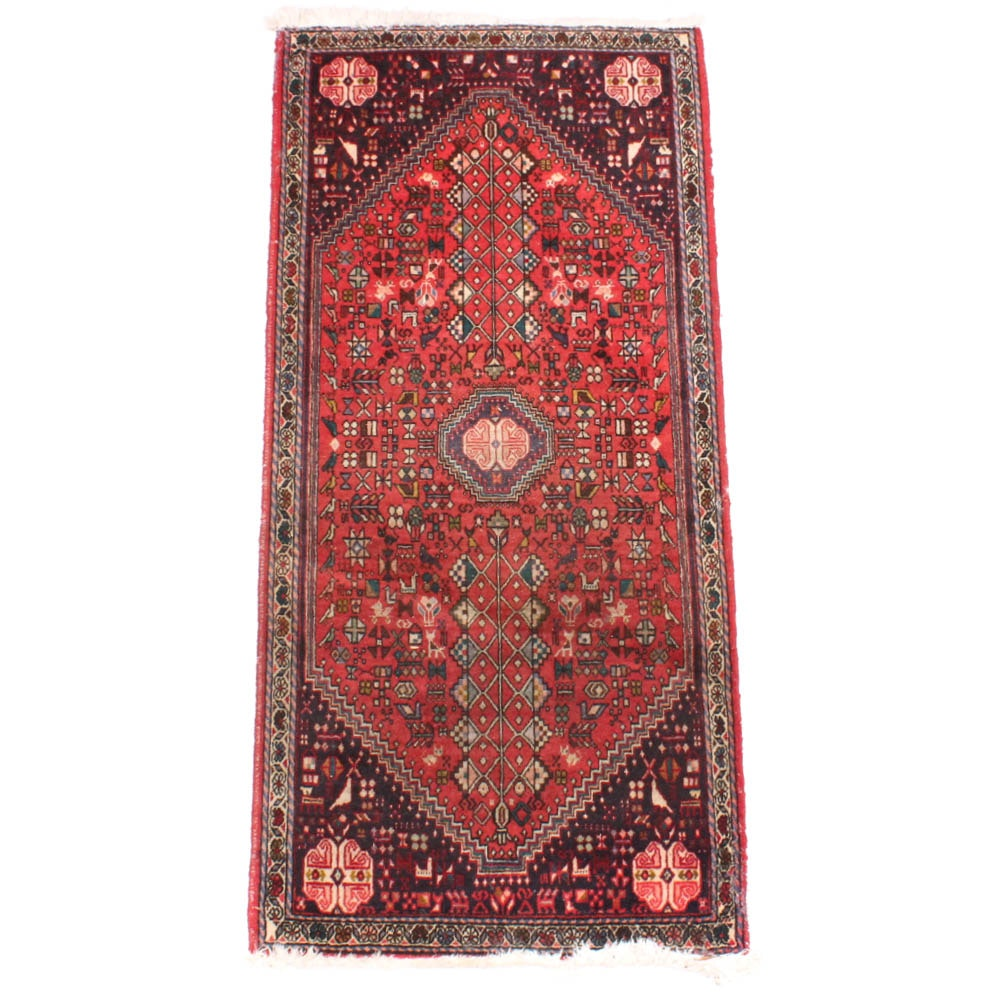 Semi-Antique Hand Knotted Persian Qashqai Accent Rug