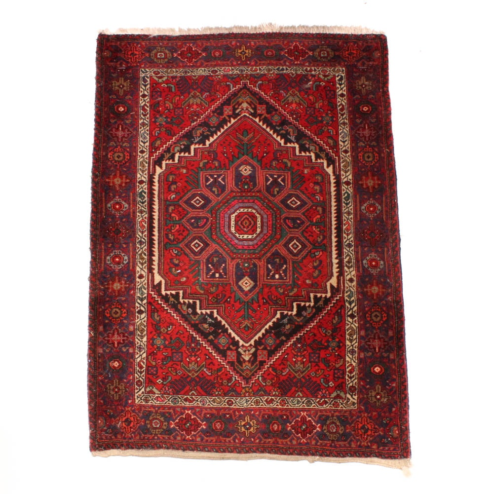 Hand Knotted Caucasian Accent Rug