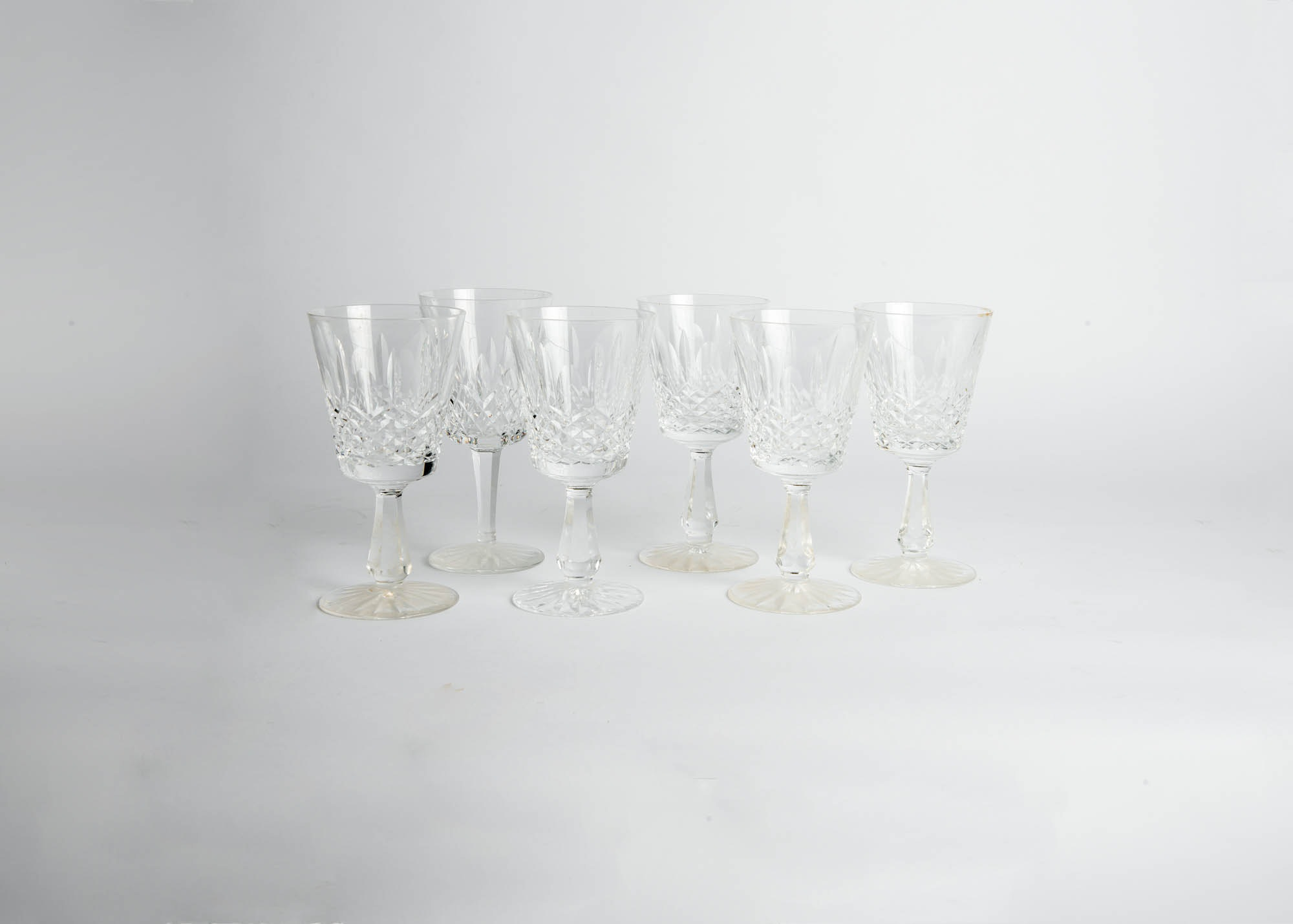 Set of Six Waterford Wine Glasses
