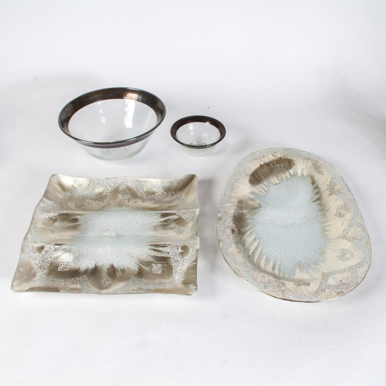 Vintage Dorothy Thorpe Sterling Silver on Crystal