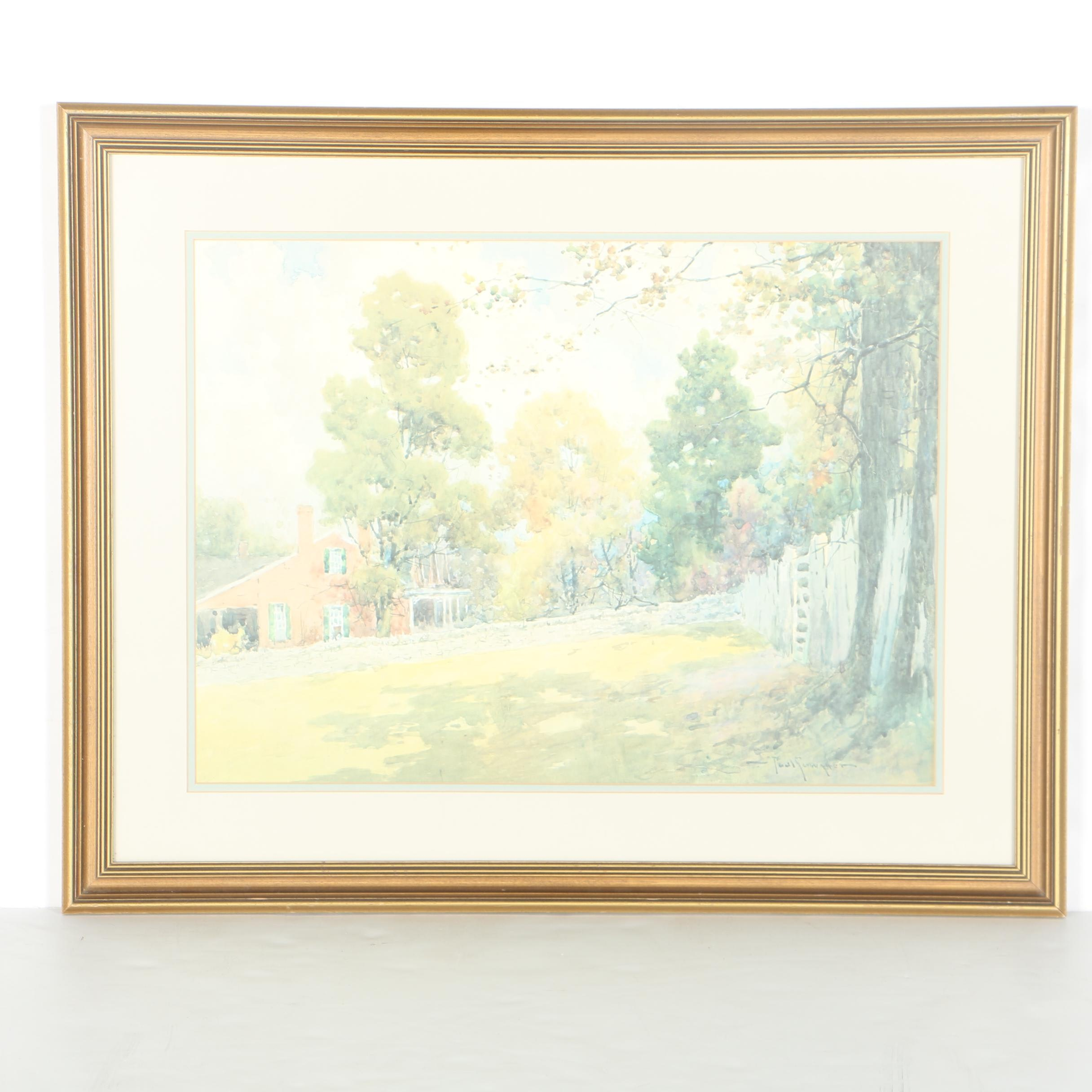 "Paul Sawyier Limited Edition Offset Lithograph ""An Old Kentucky Home"""