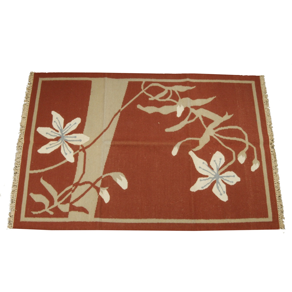 Floral Woven Area Rug