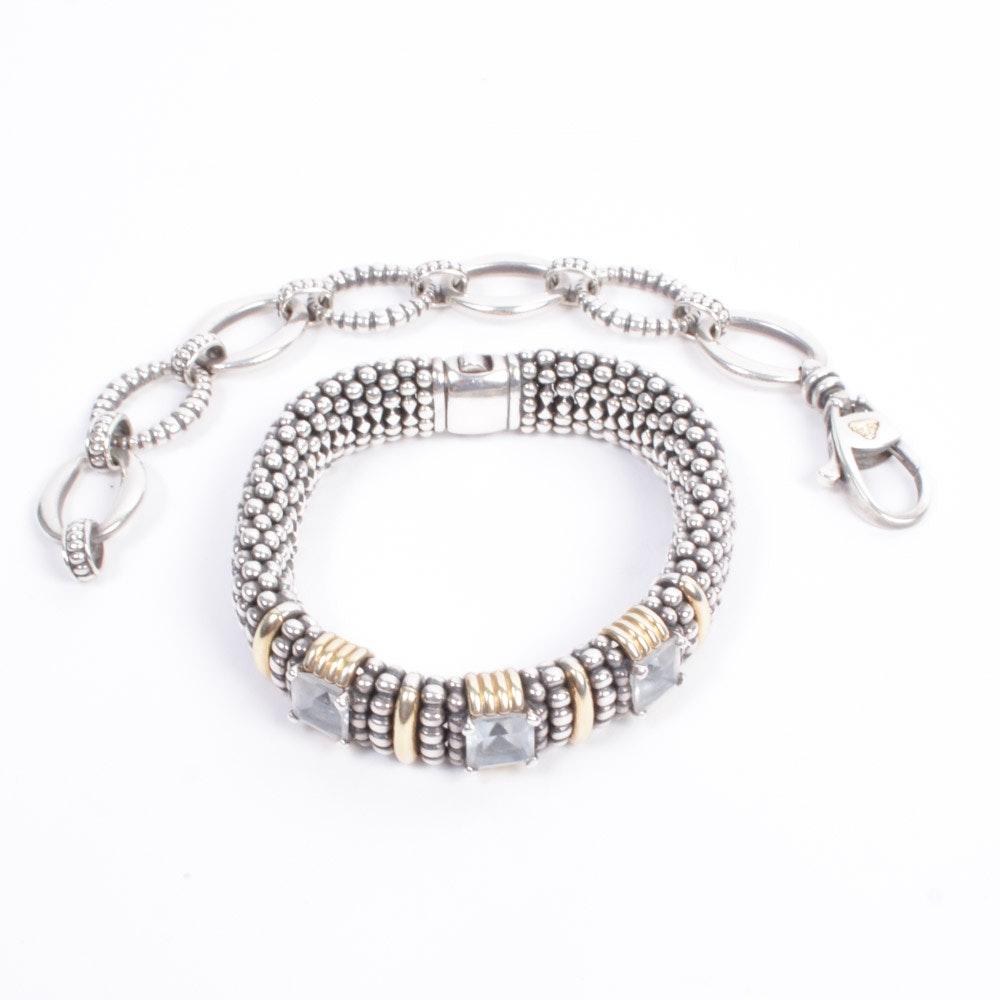 "Lagos Sterling ""Caviar"" Bracelets"