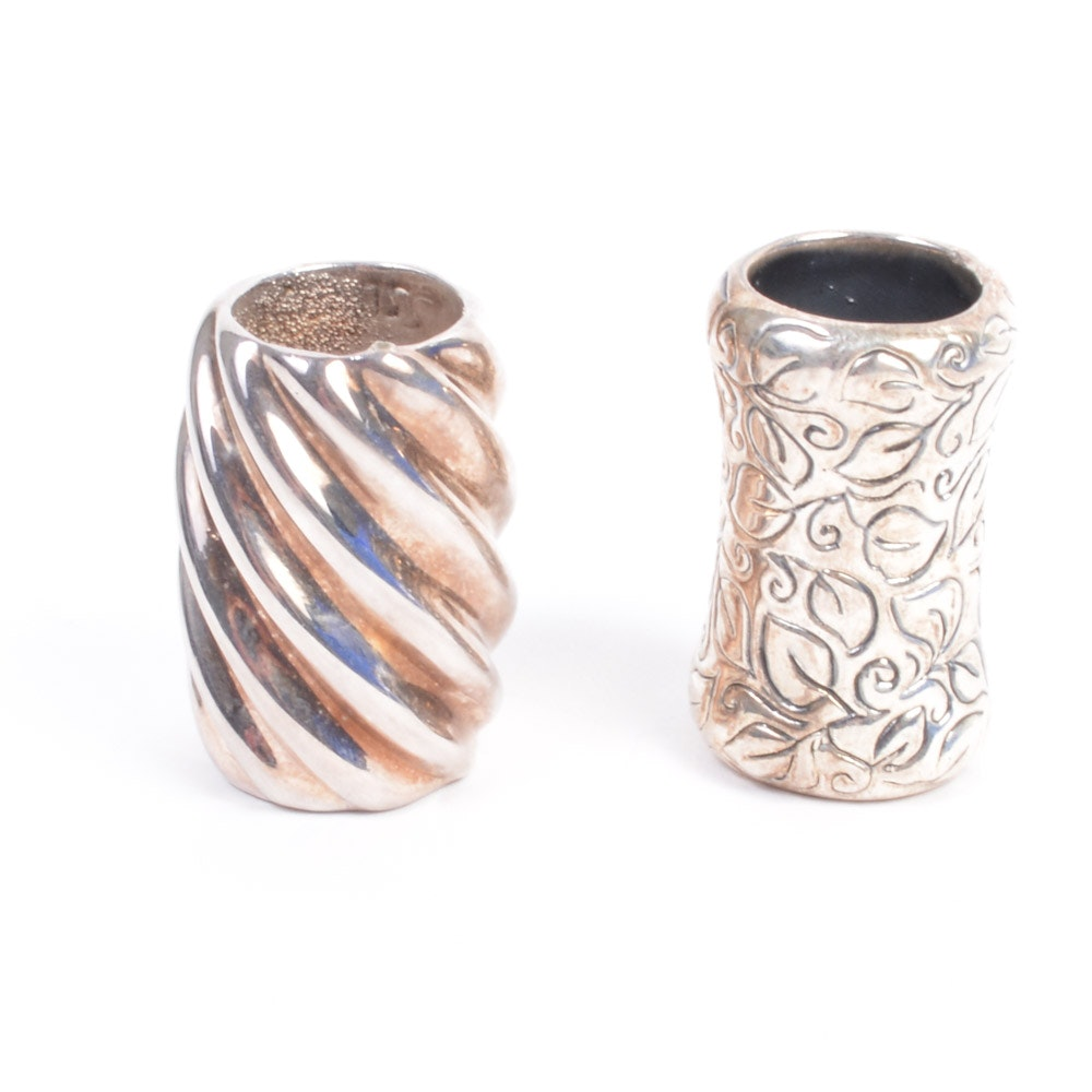 Two Sterling Silver Napkin Rings