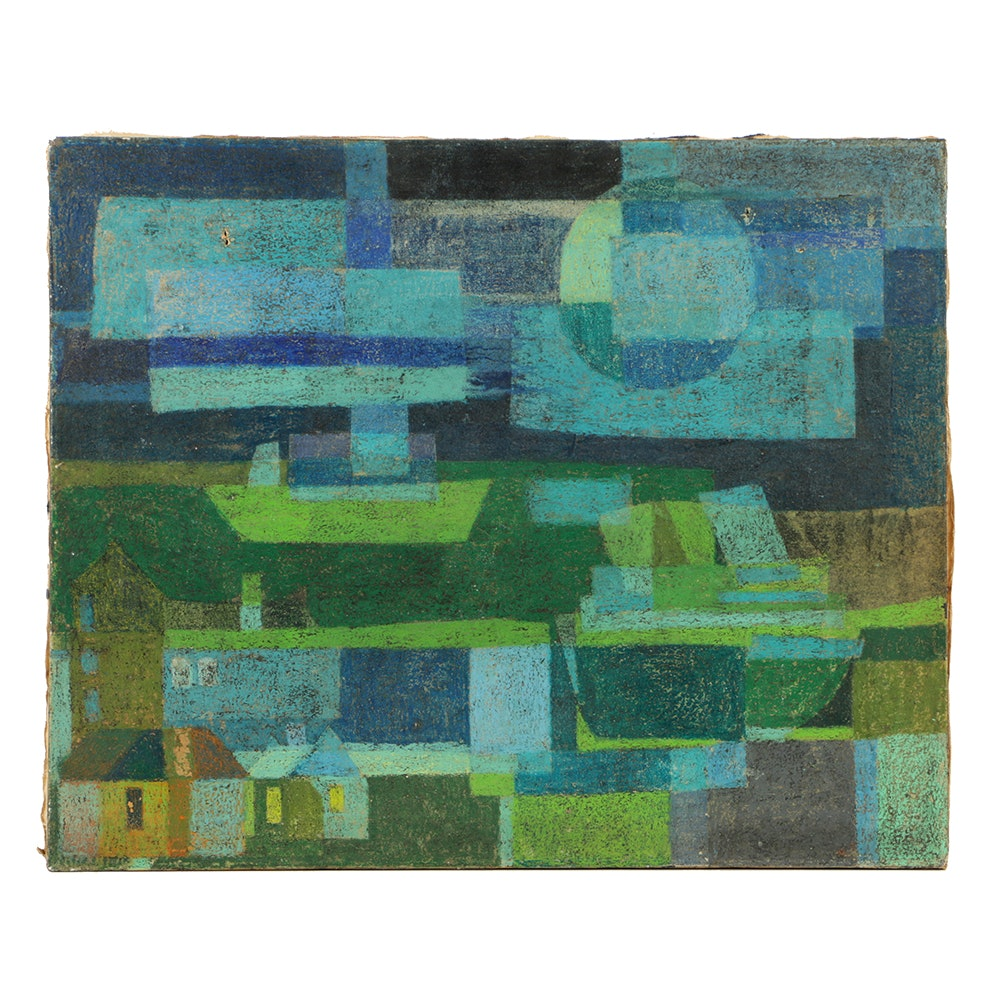 Oil Painting on Canvas Abstract Cityscape