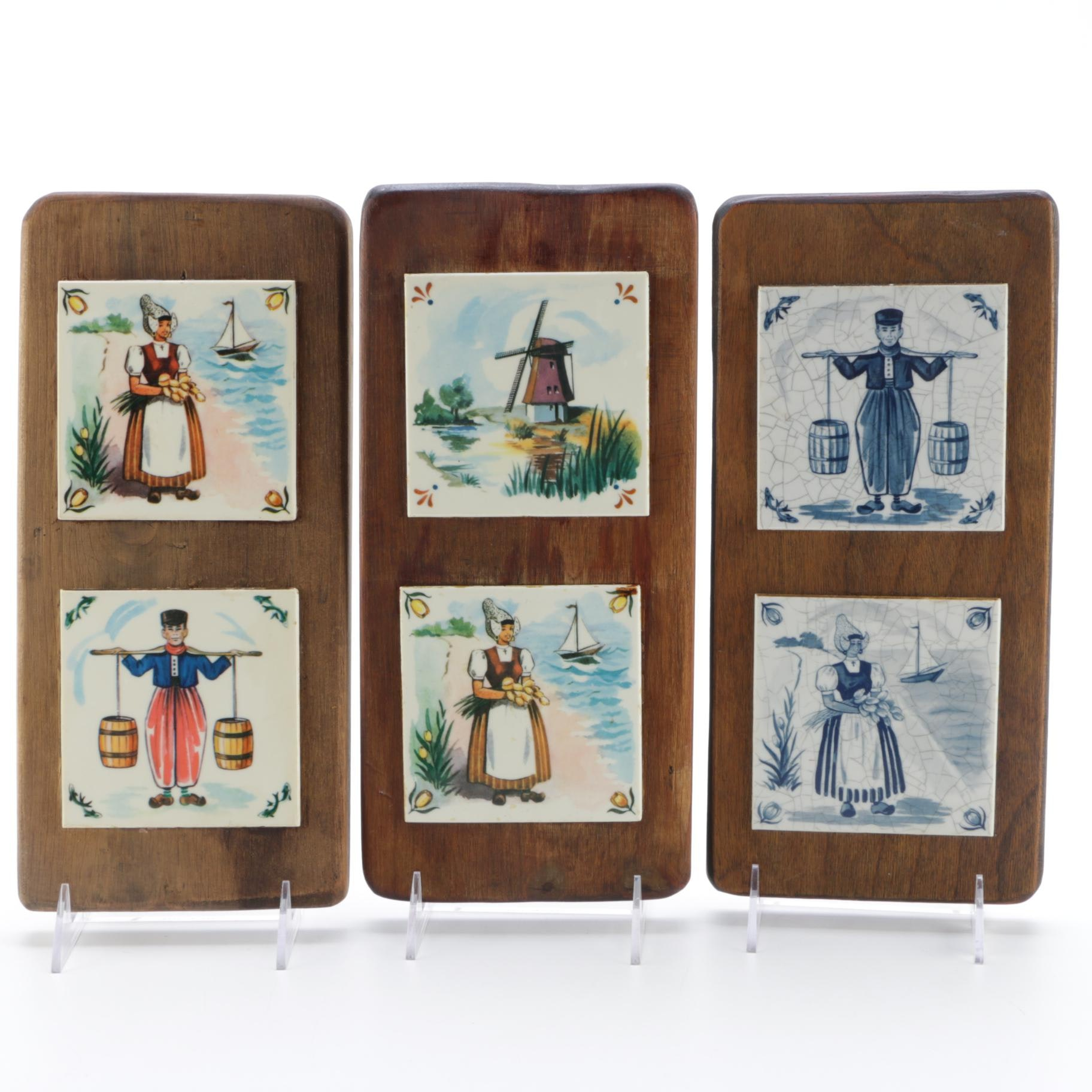 Vintage Decorative Tile Wall Hangings