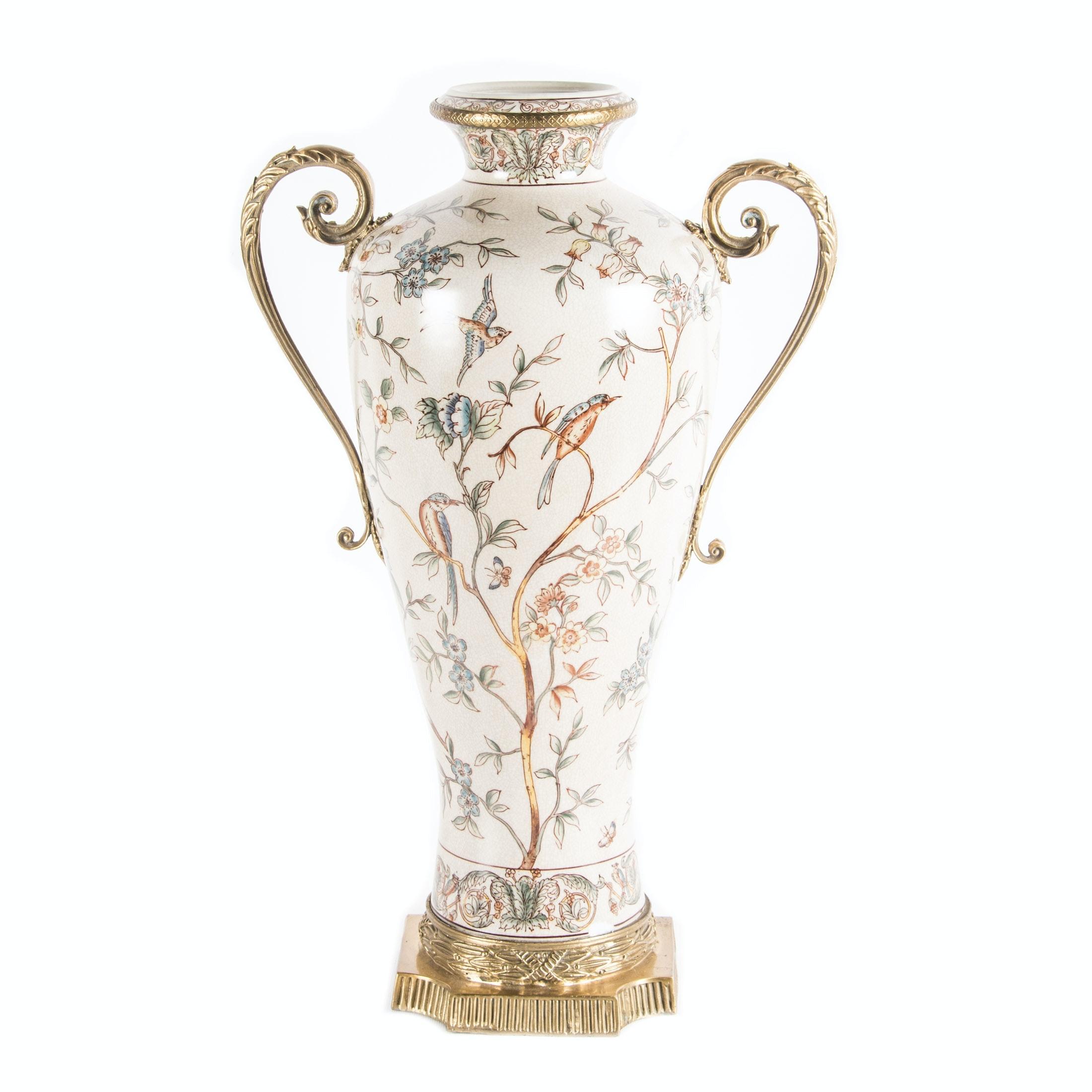 Asian Inspired Porcelain Vase
