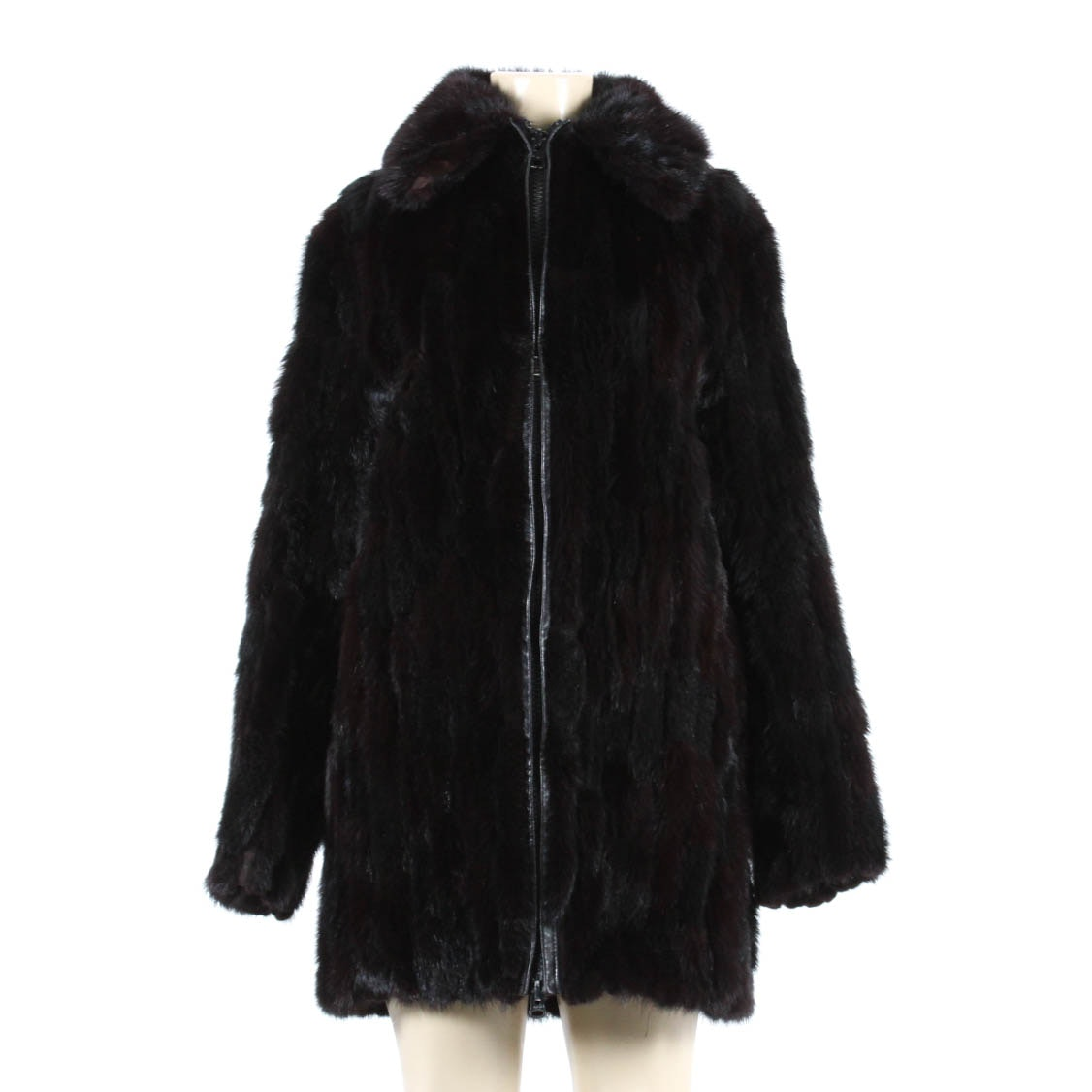 Kingsten Lee Black Ranch Mink Jacket