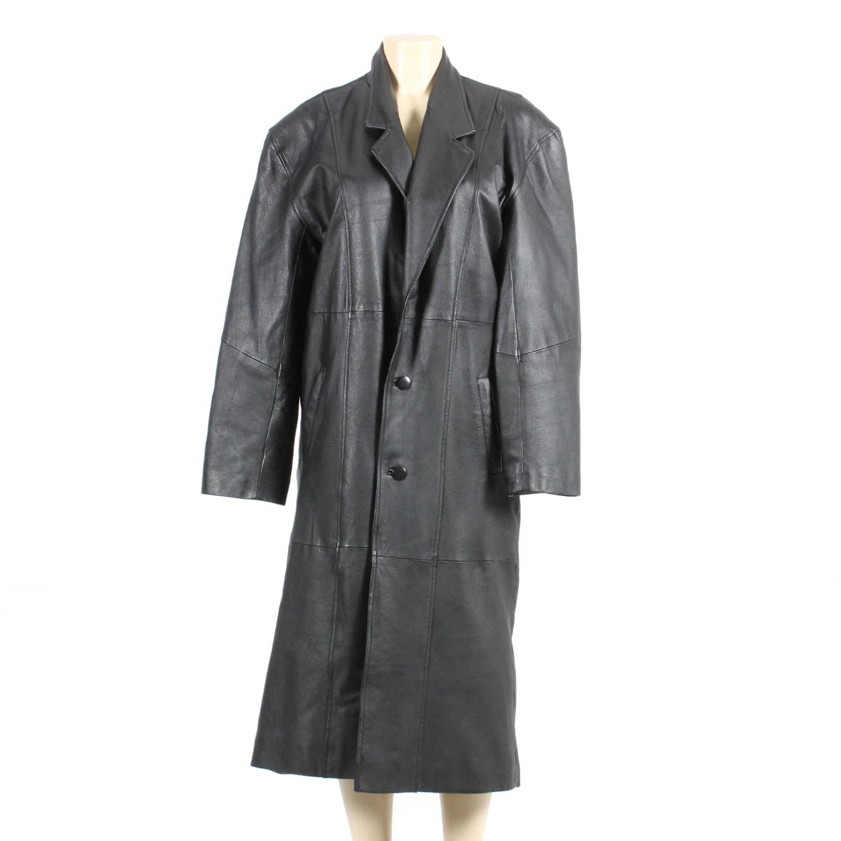 City Streets Full Length Leather Trench Coat