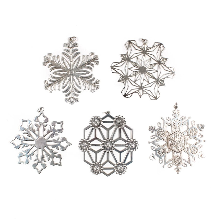 Sterling Silver Christmas Ornaments ... - Sterling Silver Christmas Ornaments : EBTH