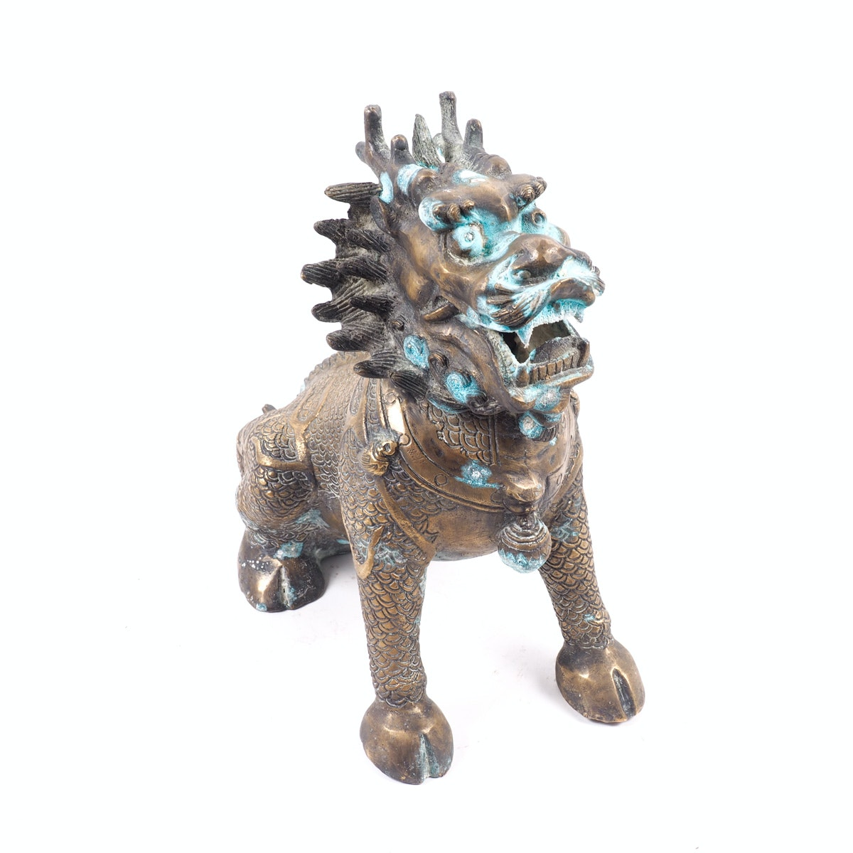Chinese Brass Qilin Sculpture