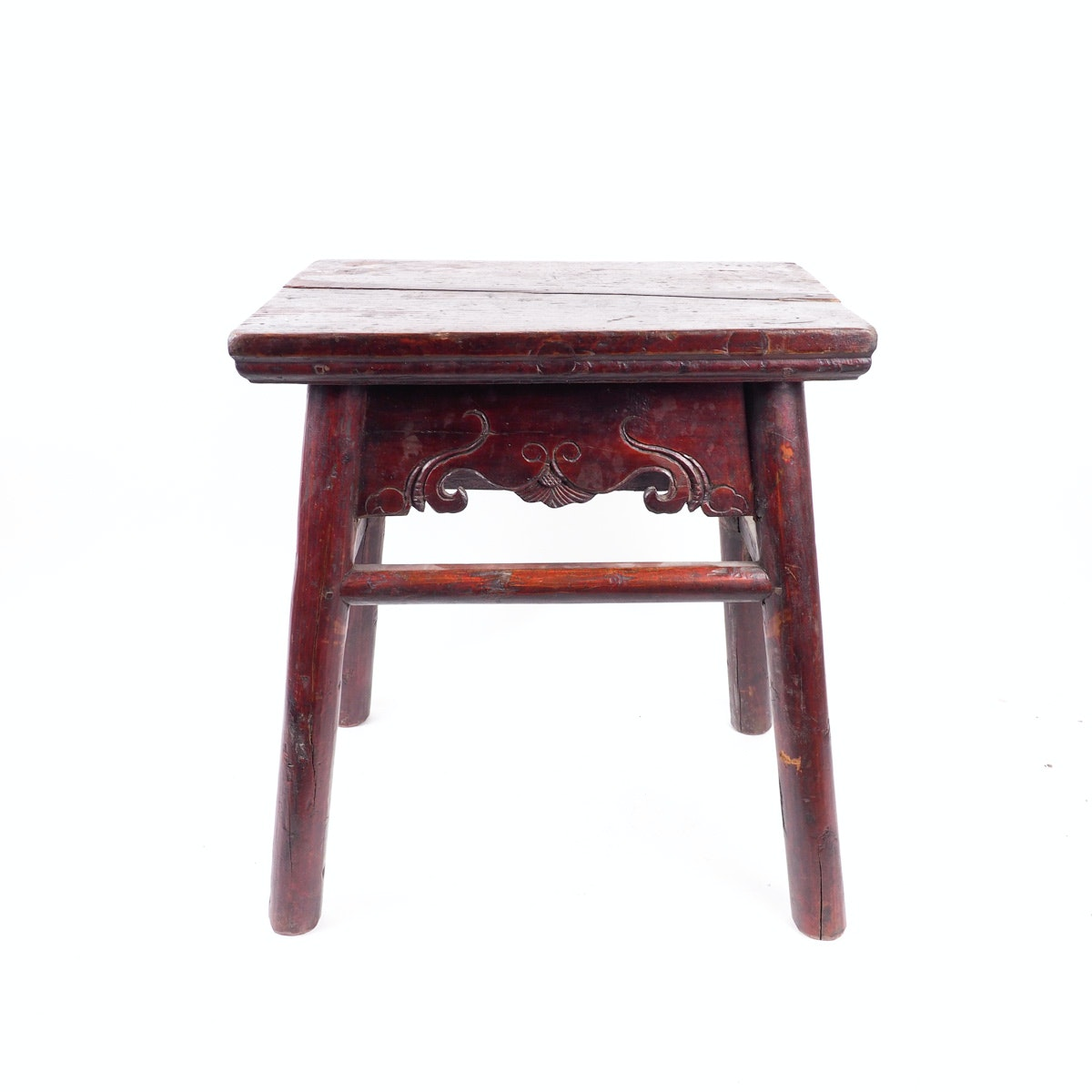 Vintage Hand Carved Chinese Style Wooden Stool
