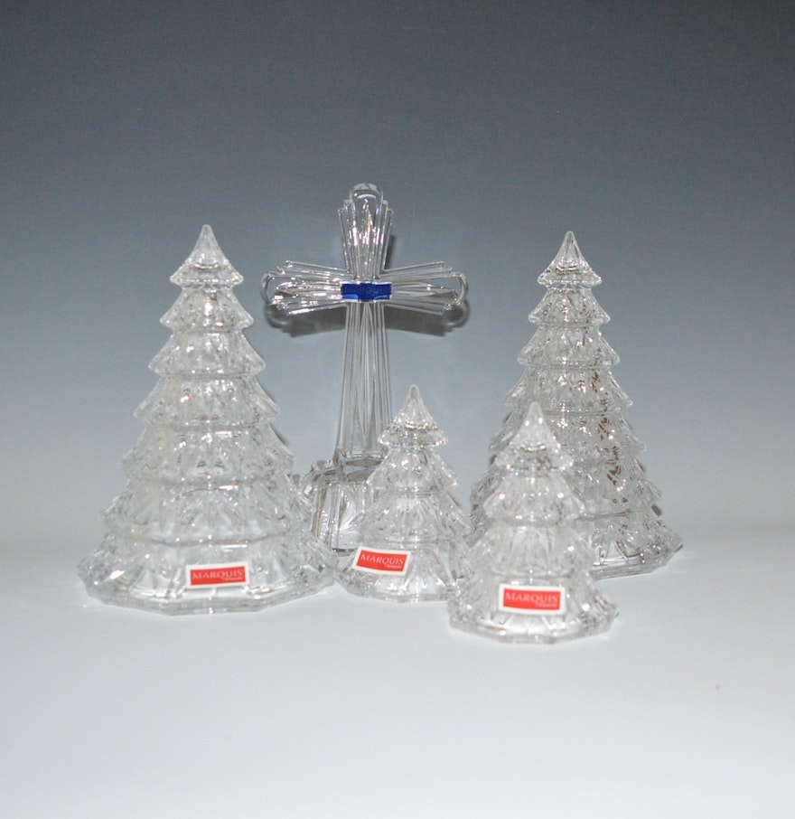 Hummel christmas tree ornaments - Marquis By Waterford Holiday Trees And Alter Cross Collection