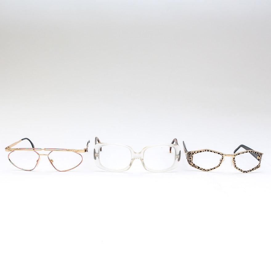 5fbc8328421b Collection of Designer Sunglasses Frames including Alain Mikli and Cazal    EBTH