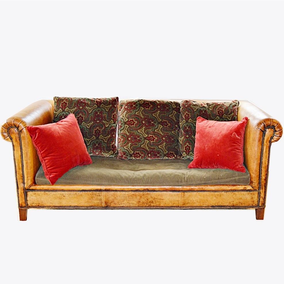 Ralph Lauren Classic Leather Sofa