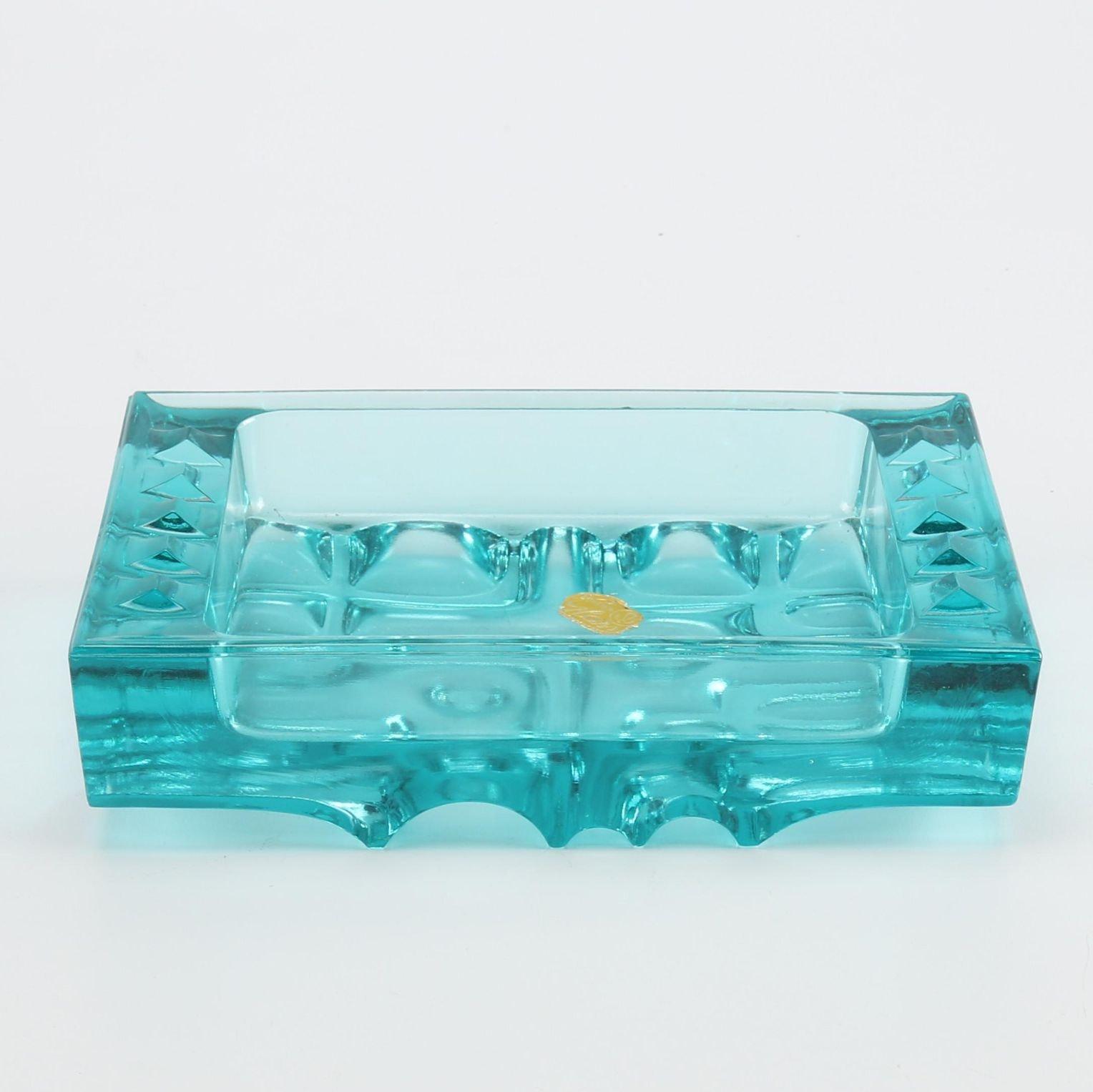Bohemian Glass Teal Ash Receiver