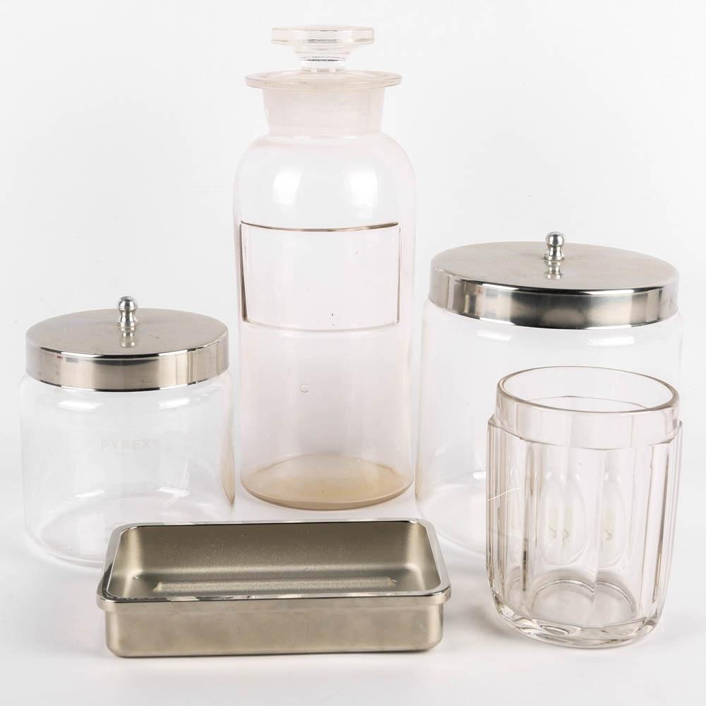 Bathroom Accessories Restoration Hardware pharmacy style bathroom accessories featuring restoration hardware